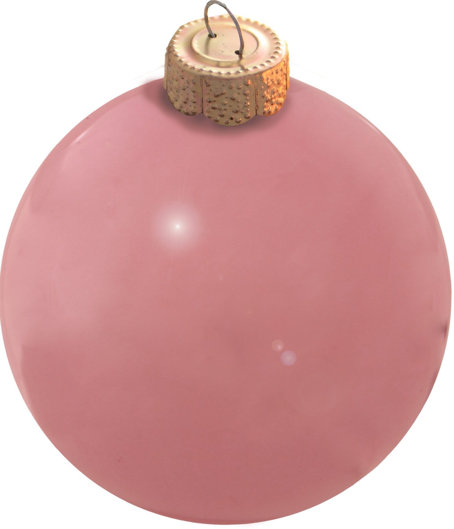 25cm Large Outdoor Commercial Christmas Tree Bauble: Pale Pink Glass Ball Christmas Ornament