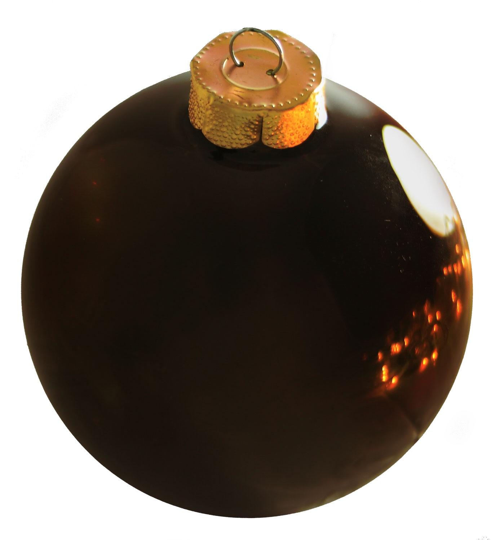 Chocolate Glass Ball Christmas Ornament