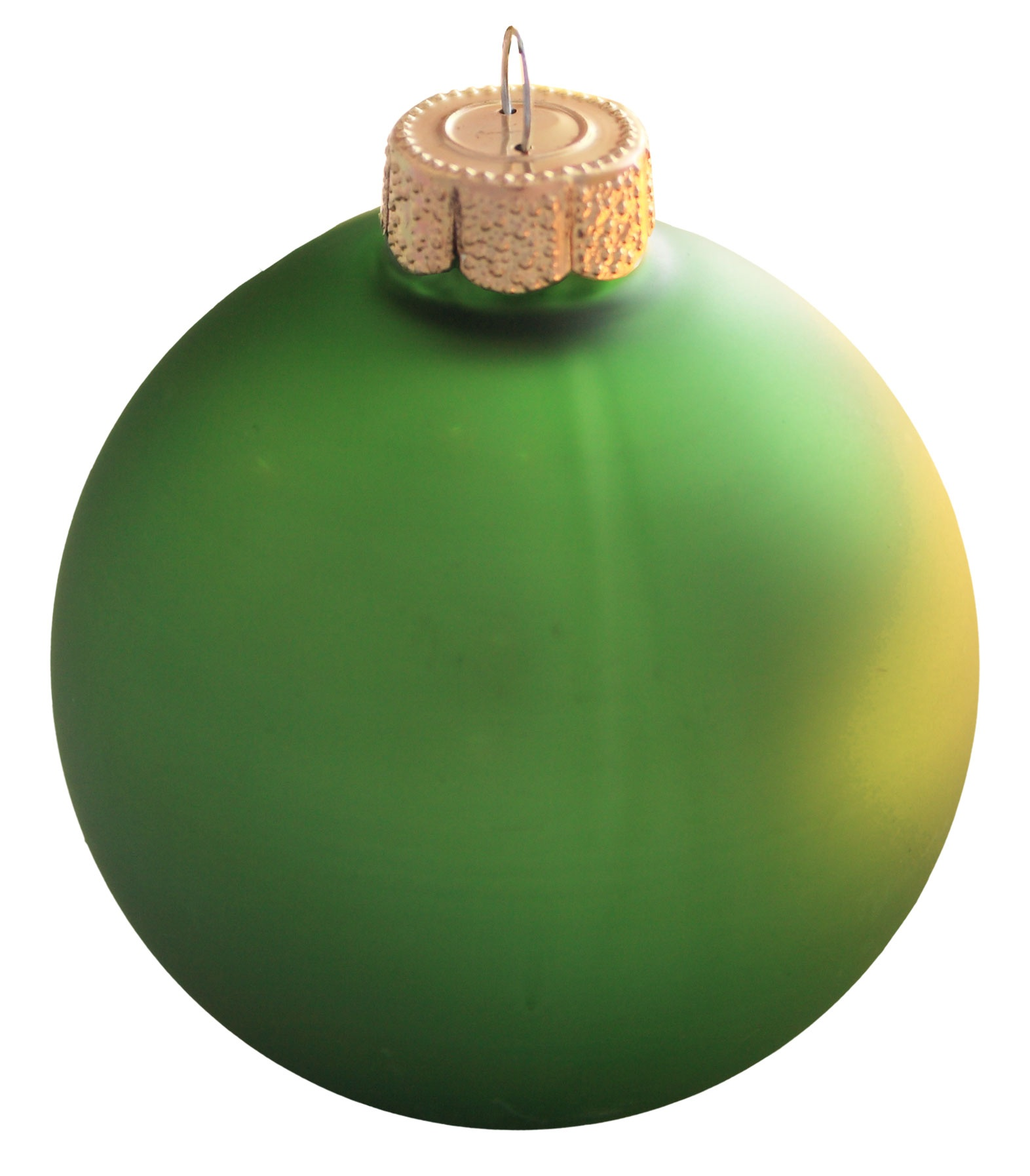 Lime Green Glass Ball Christmas Ornament