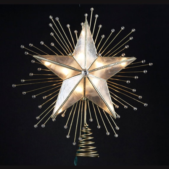 Christmas Decorations 10 Quot Lighted Capiz Star Tree Topper