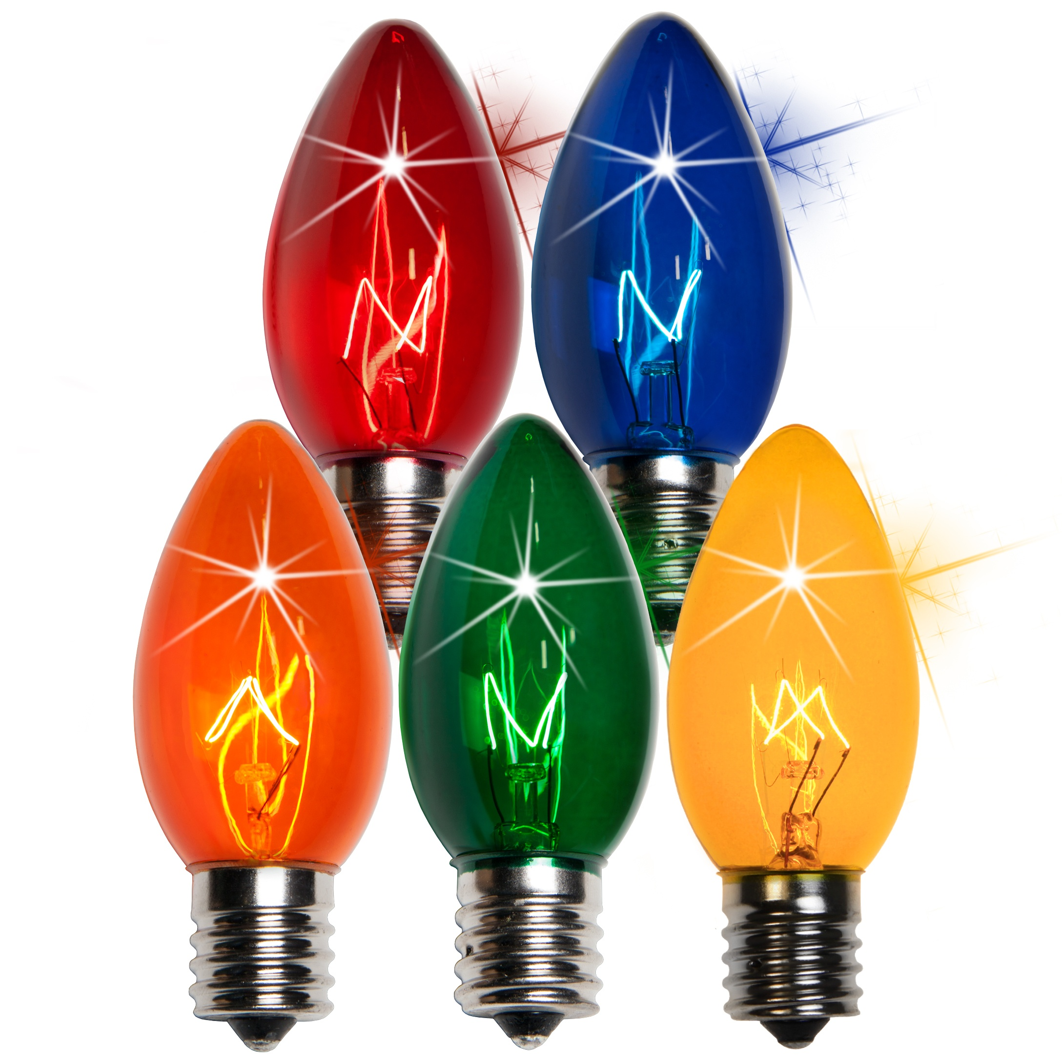 C9 Christmas Light Bulb C9 Twinkle Multicolor Christmas