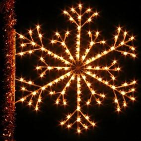 Outdoor Christmas Decorations 6 Mountain Snowflake Pole