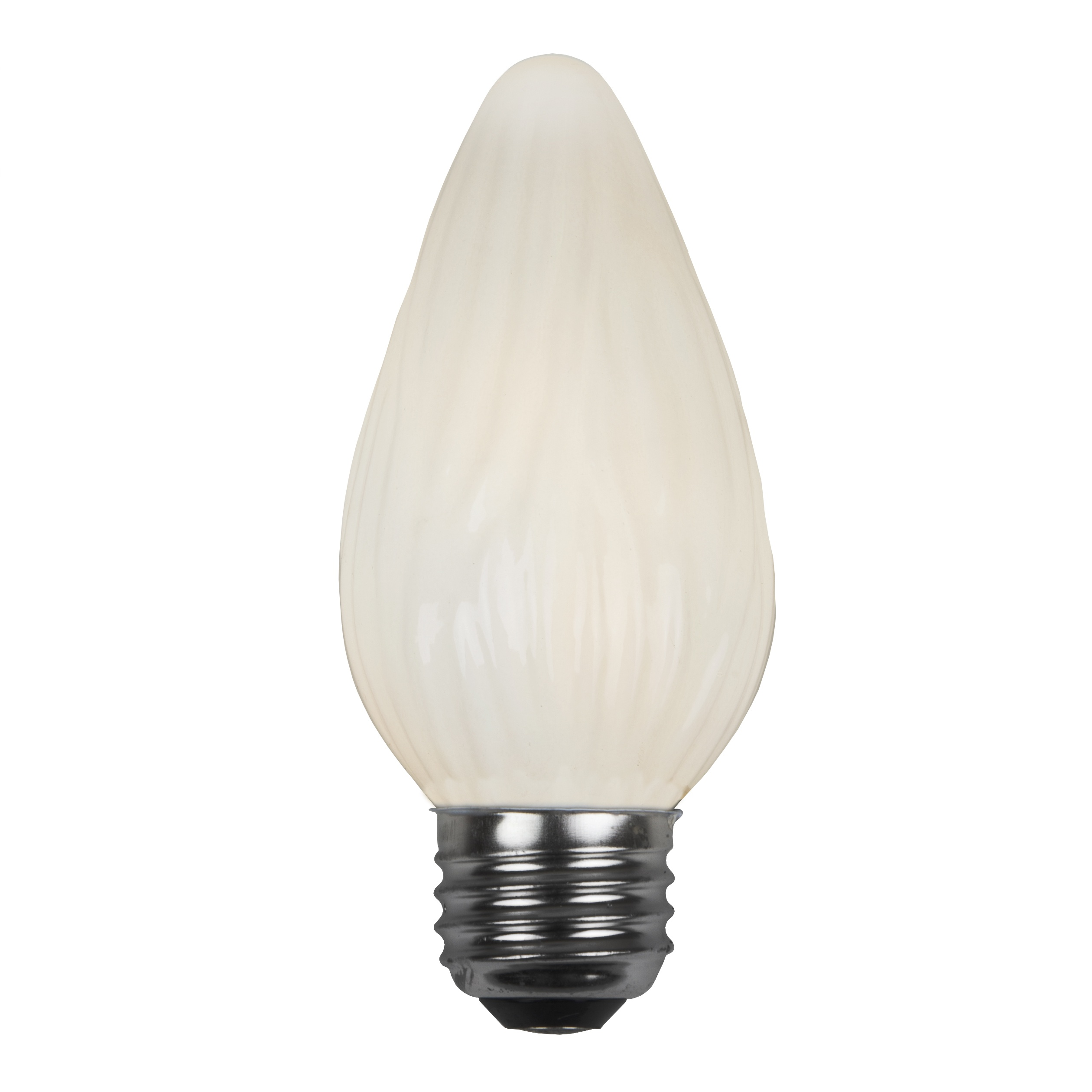 E26 Party And Sign Bulbs F15 Flame Opaque White 40 Watt