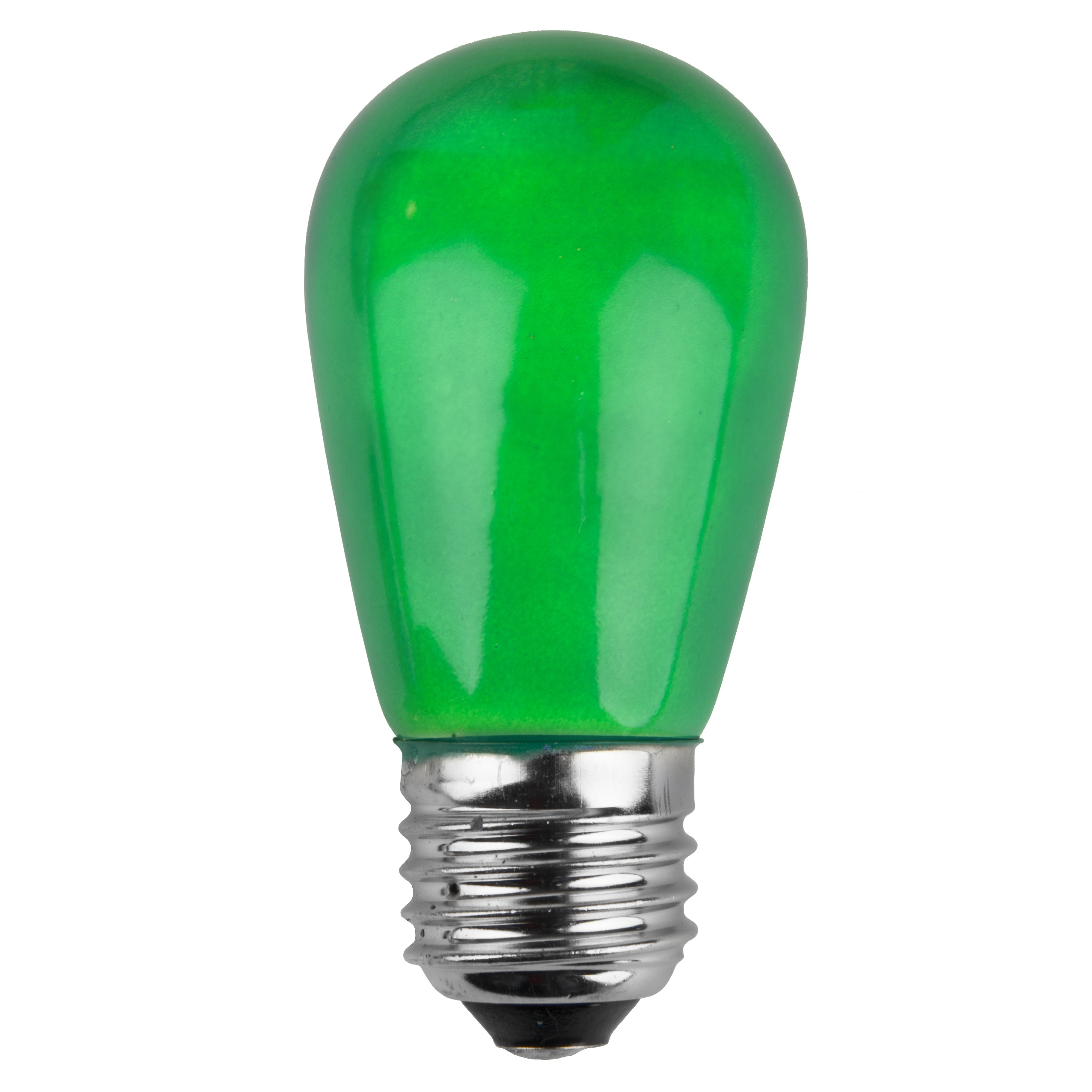 E26 Party And Sign Bulbs S14 Opaque Green 11 Watt