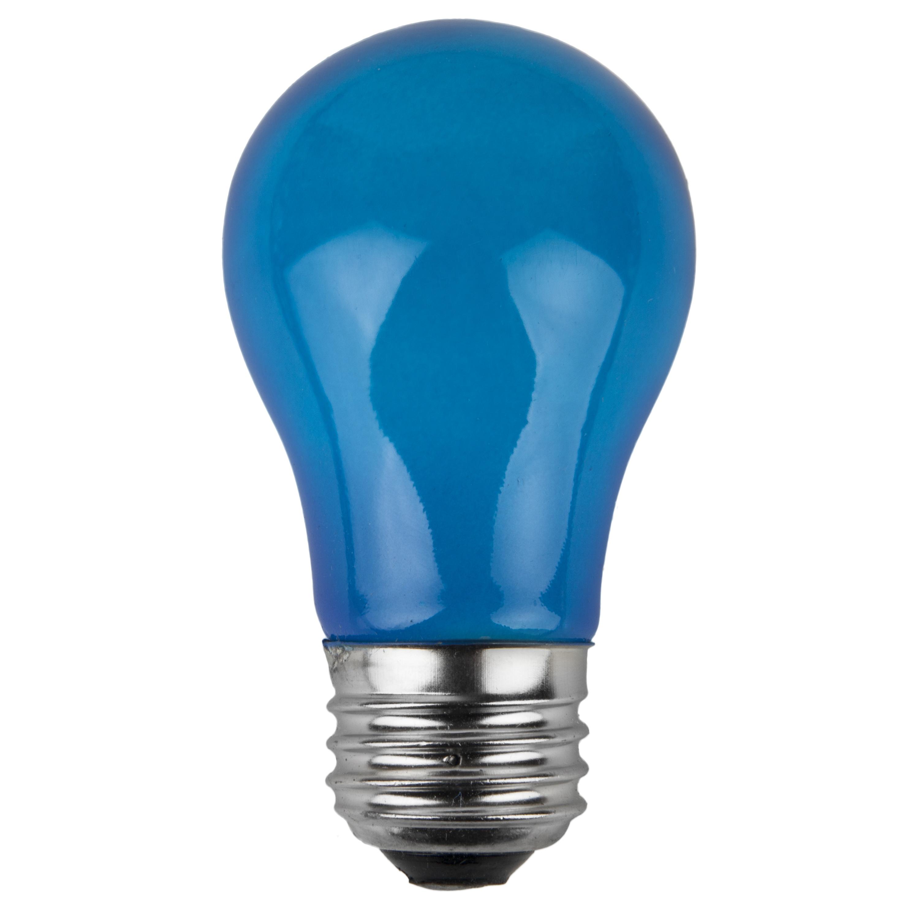 E26 Party And Sign Bulbs A15 Opaque Blue 15 Watt