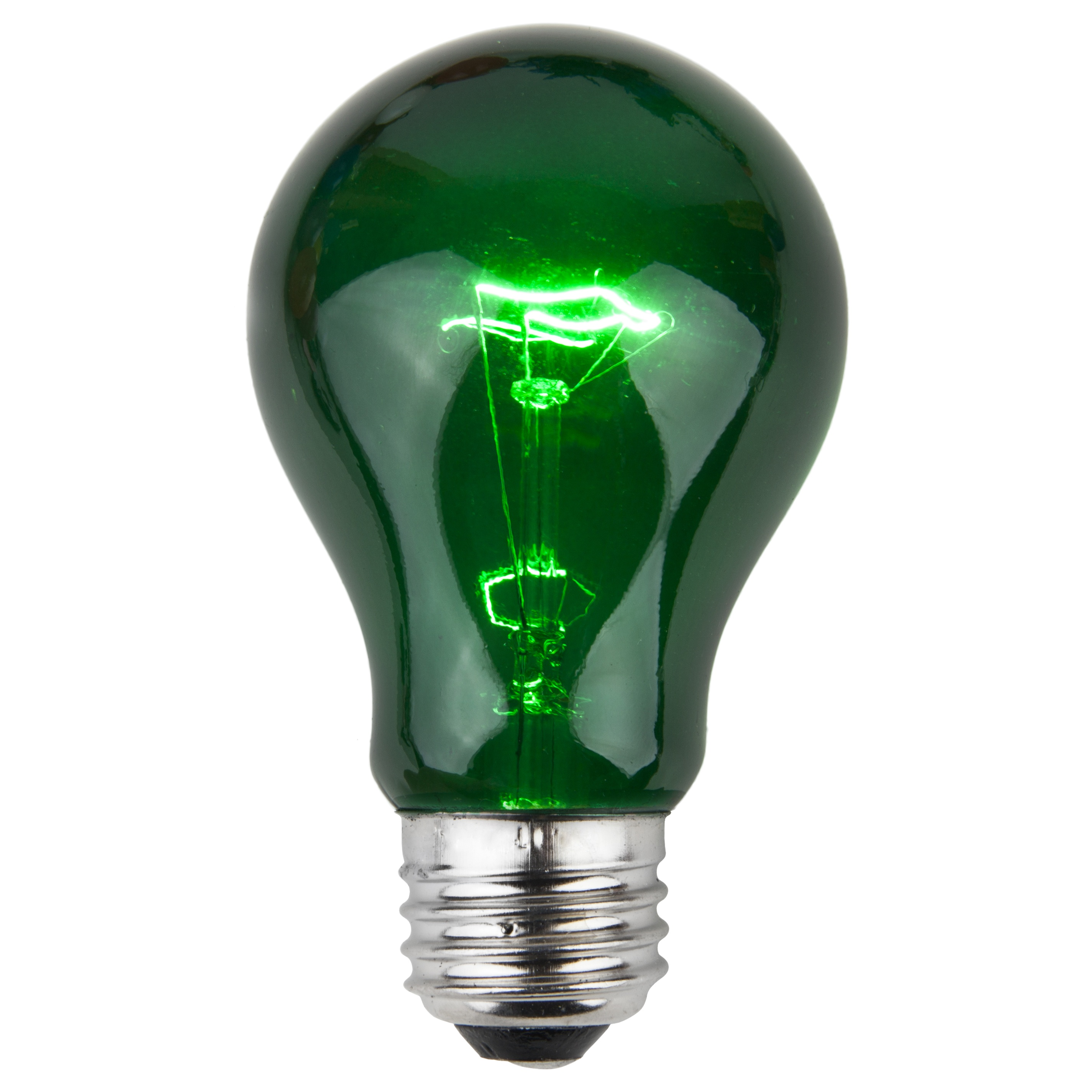 E26 Party And Sign Bulbs A19 Transparent Green 25 Watt