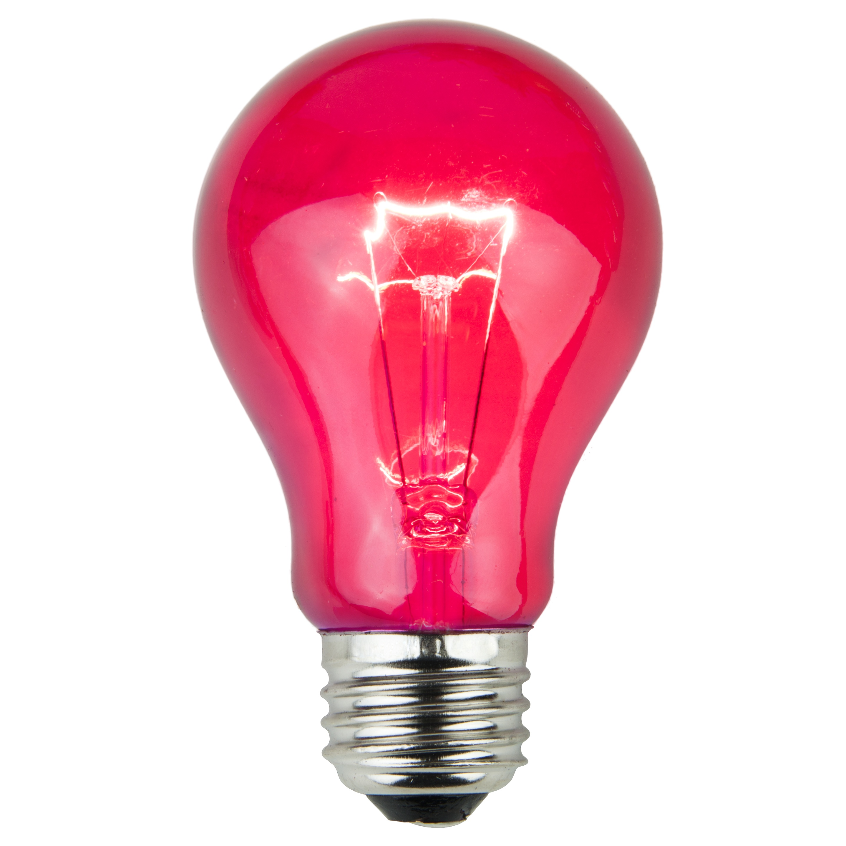 E26 Party And Sign Bulbs A19 Transparent Pink 25 Watt