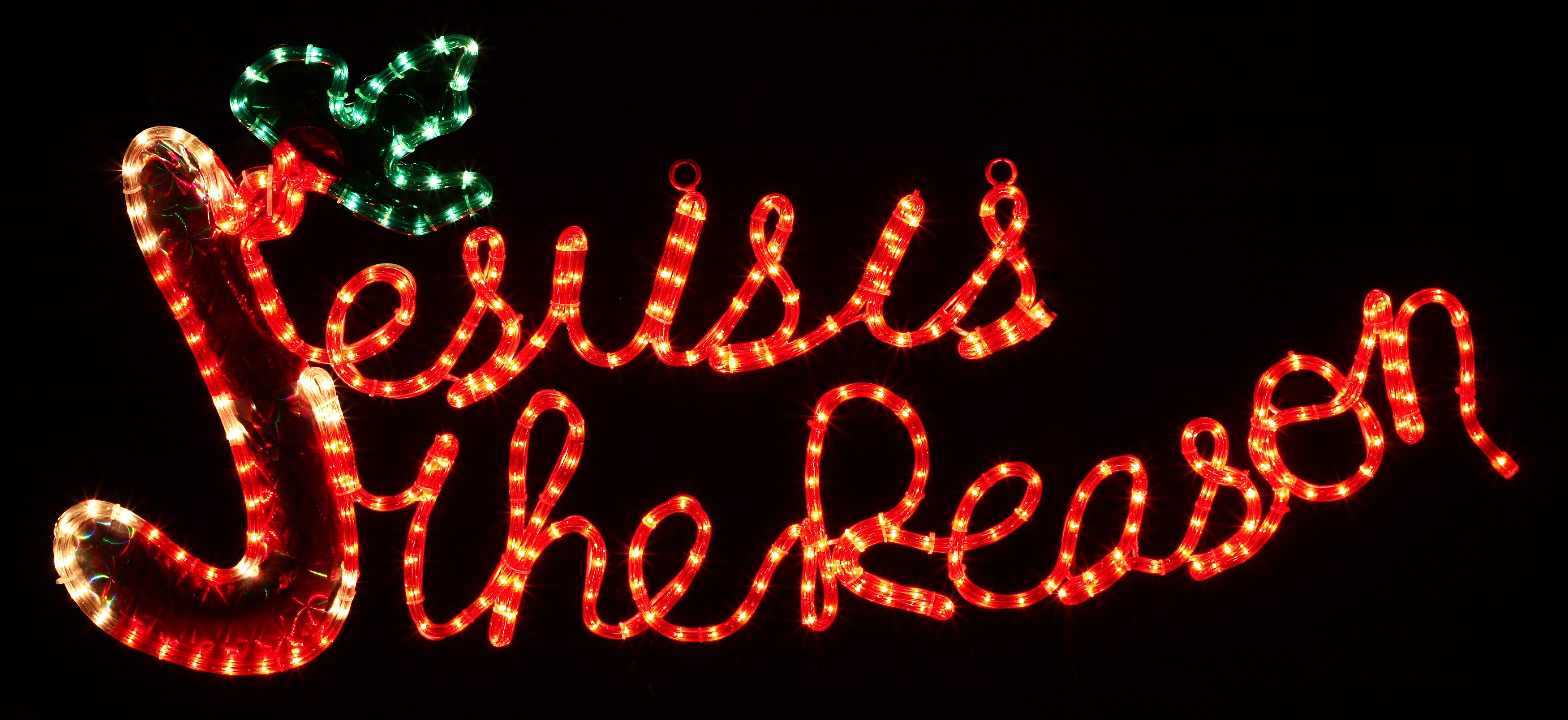 outdoor decoration 20 rope light jesus is the reason motif