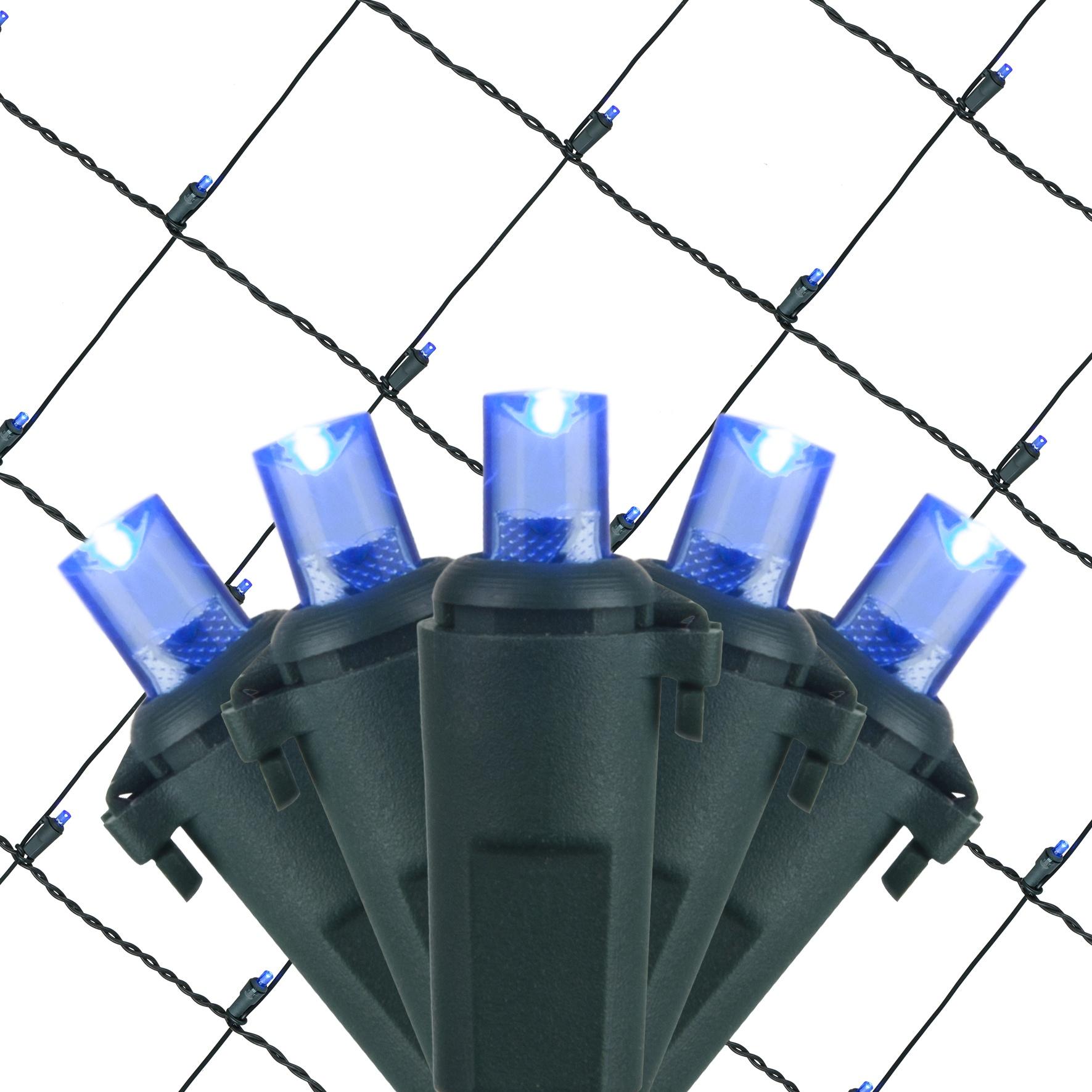 Led Net Lights 5mm 4 X6 Blue Led Net Lights Green Wire