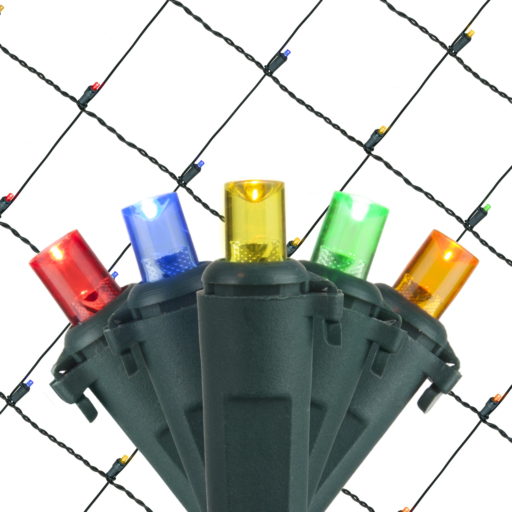 Led Net Lights 5mm 4 X6 Multicolored Led Net Lights
