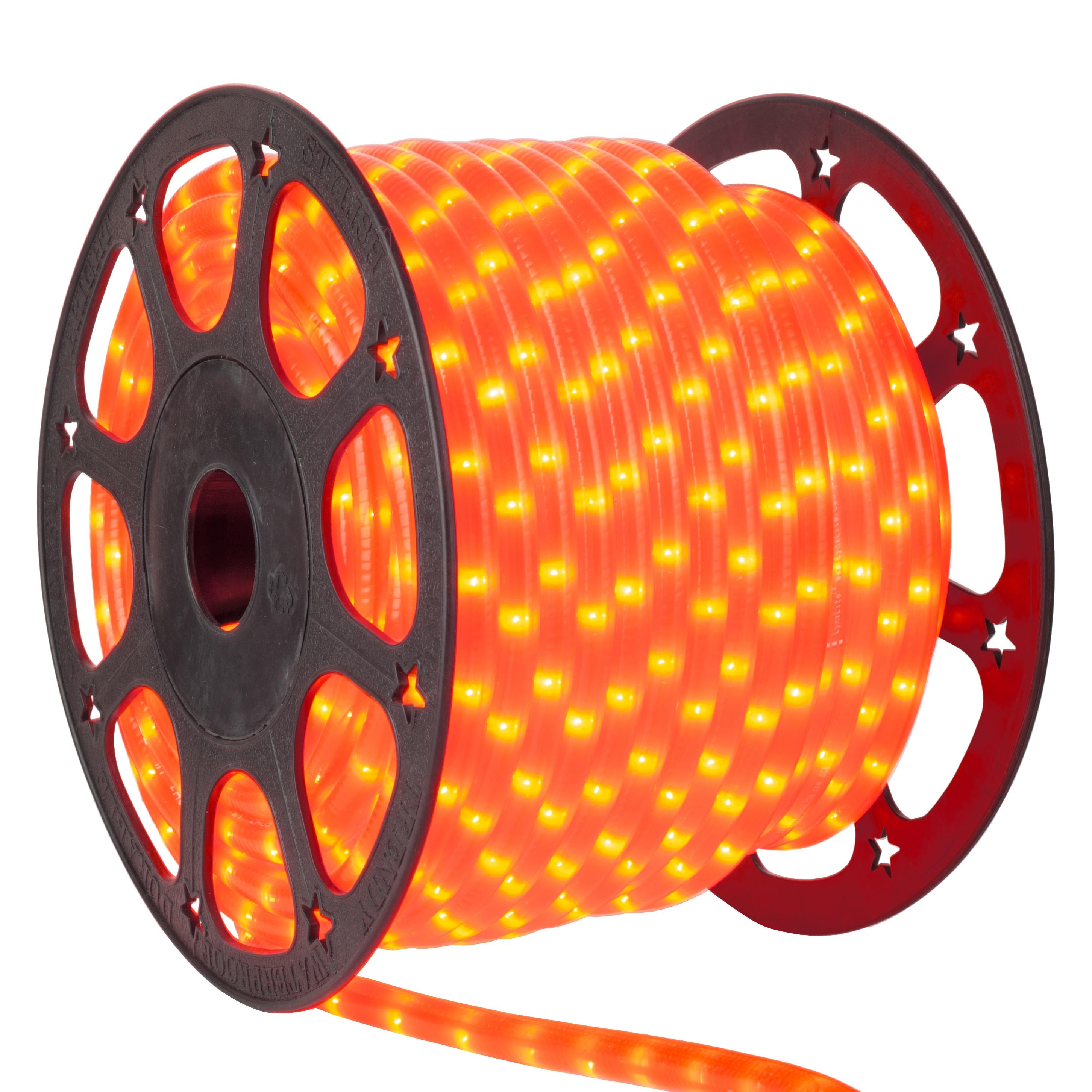 Rope light 150 orange mini rope light commercial spool 120 volt aloadofball Choice Image