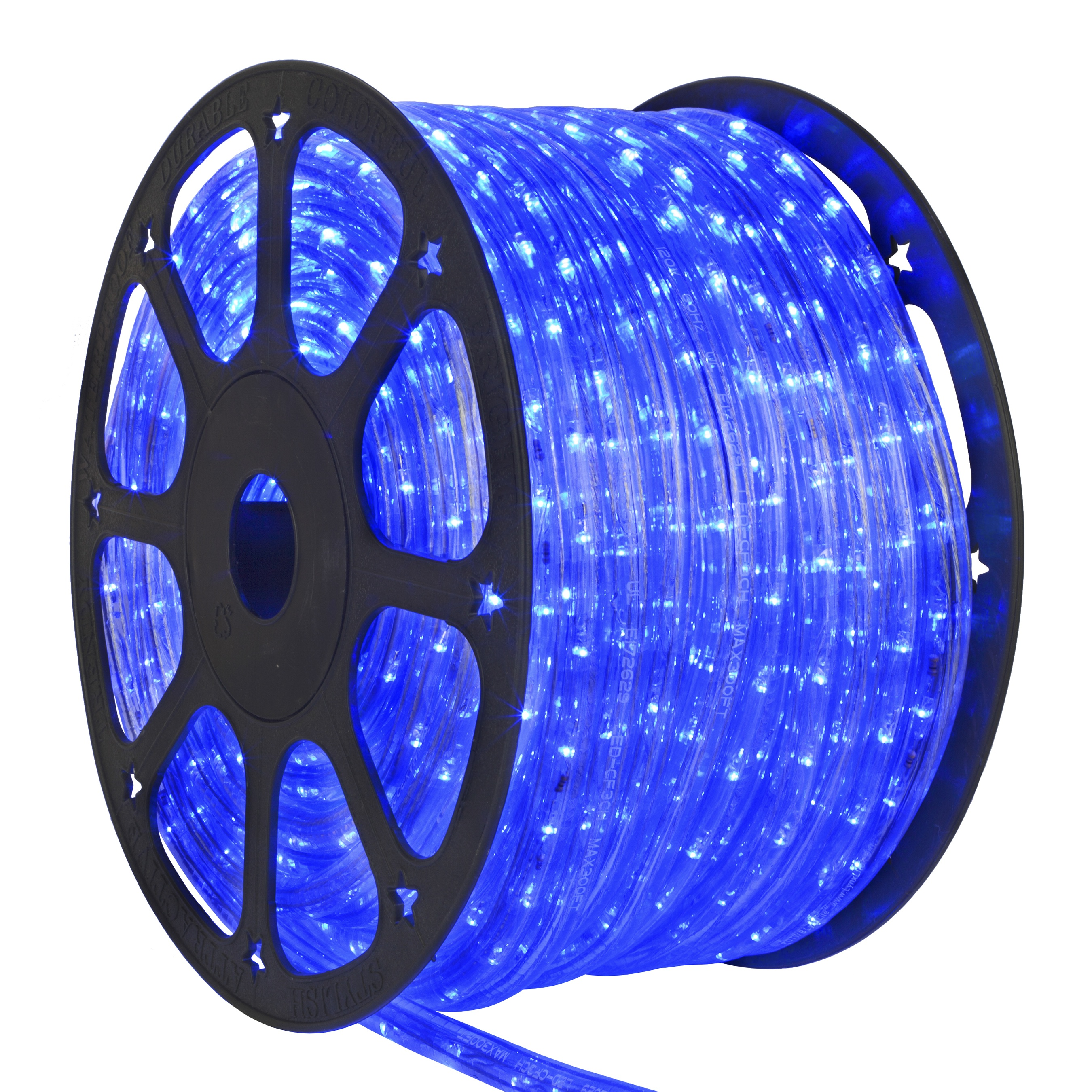 led rope lights 150 blue chasing led rope light commercial spool 120 volt