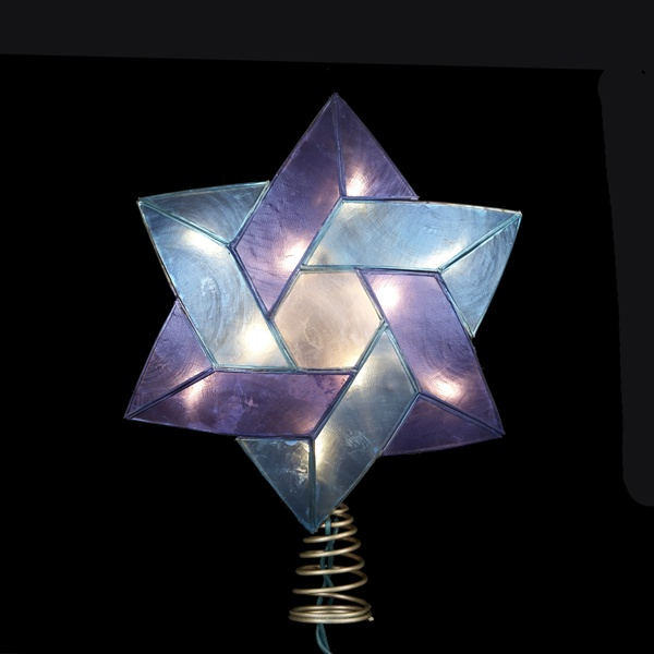 Christmas Decorations 8 5 Quot Star Of David Tree Topper