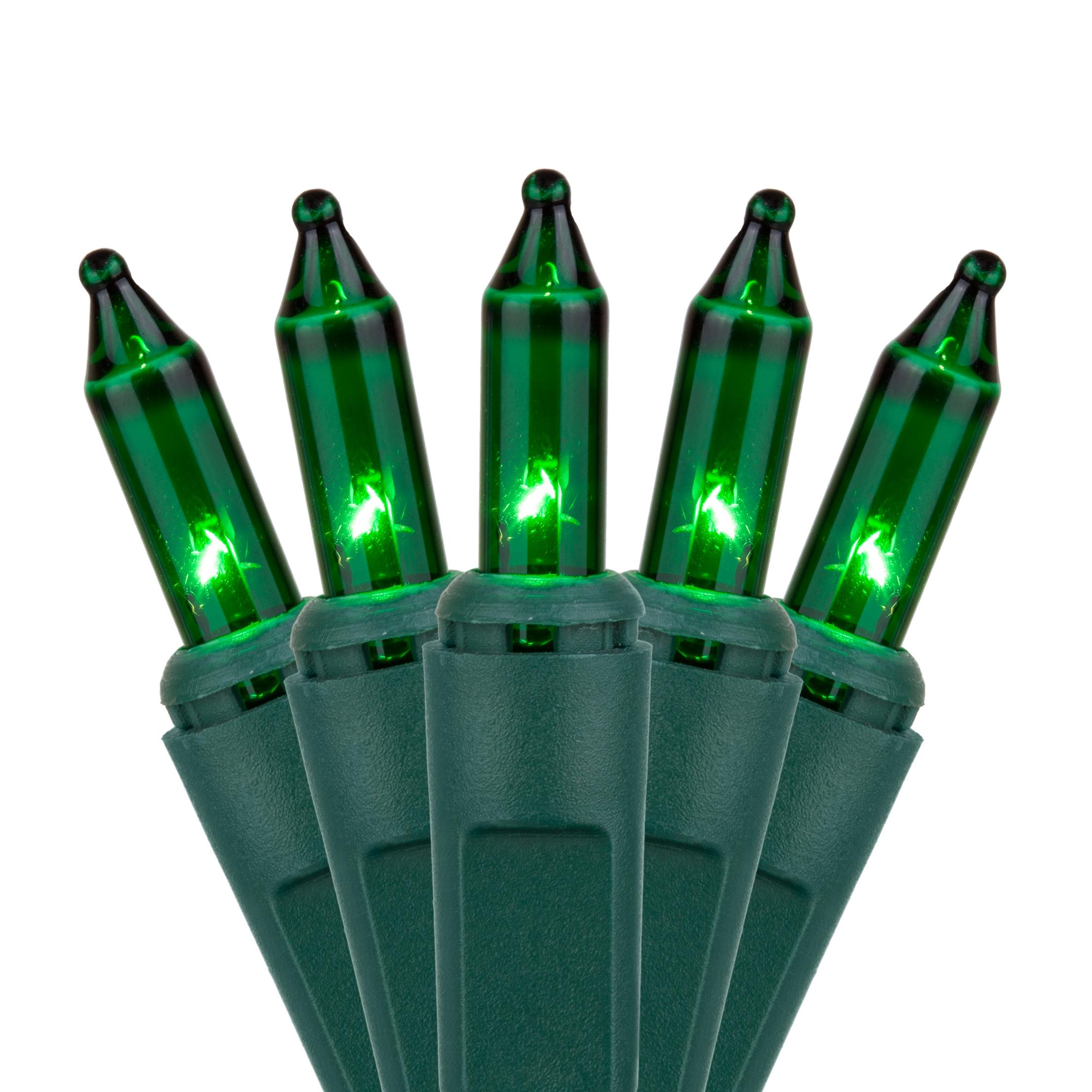 christmas lights 35 green mini lights 4 spacing green wire