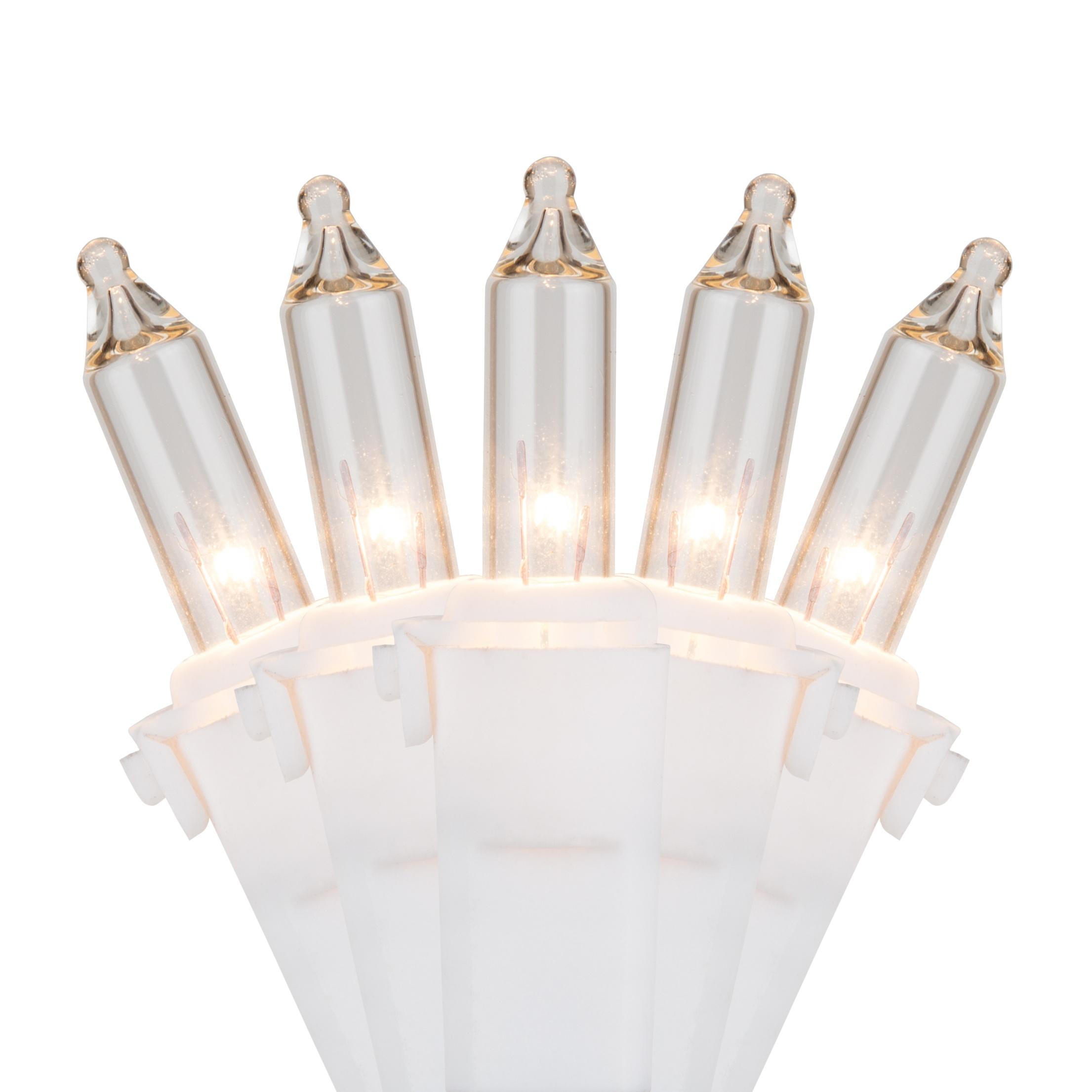 White Christmas Lights - 100 Clear Mini Christmas Lights, 4 ...