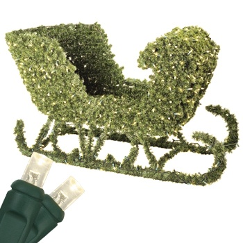 Outdoor Christmas Decorations - 4' Sleigh Topiary, LED Outdoor ...