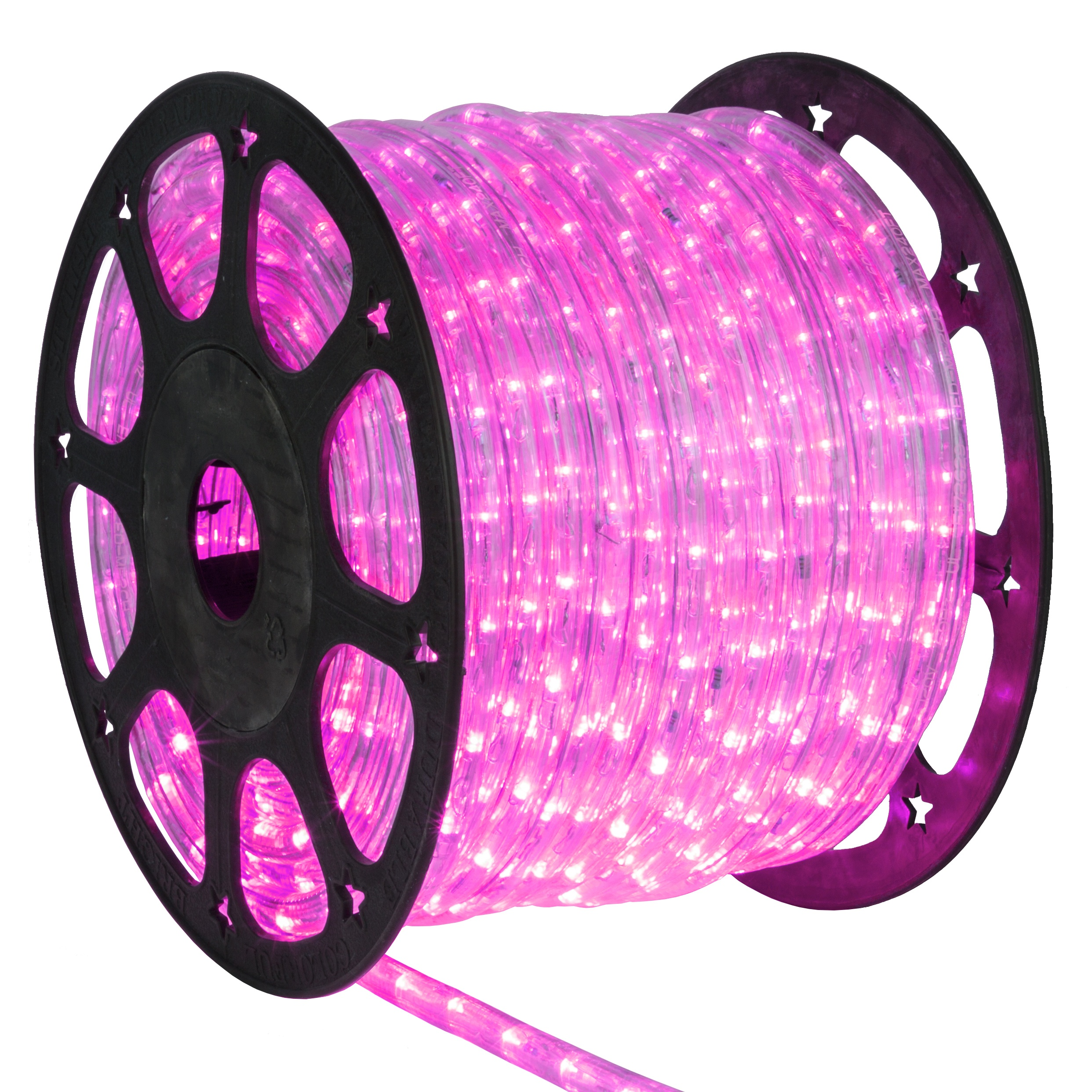 LED Rope Lights - 150\u0027 Pink LED Rope Light Commercial Spool, 120 Volt