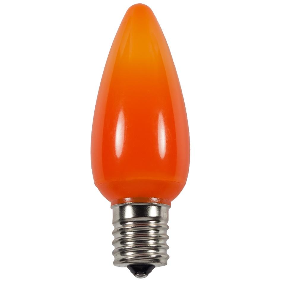 C9 Amber Orange Smooth Led Christmas Light Bulbs