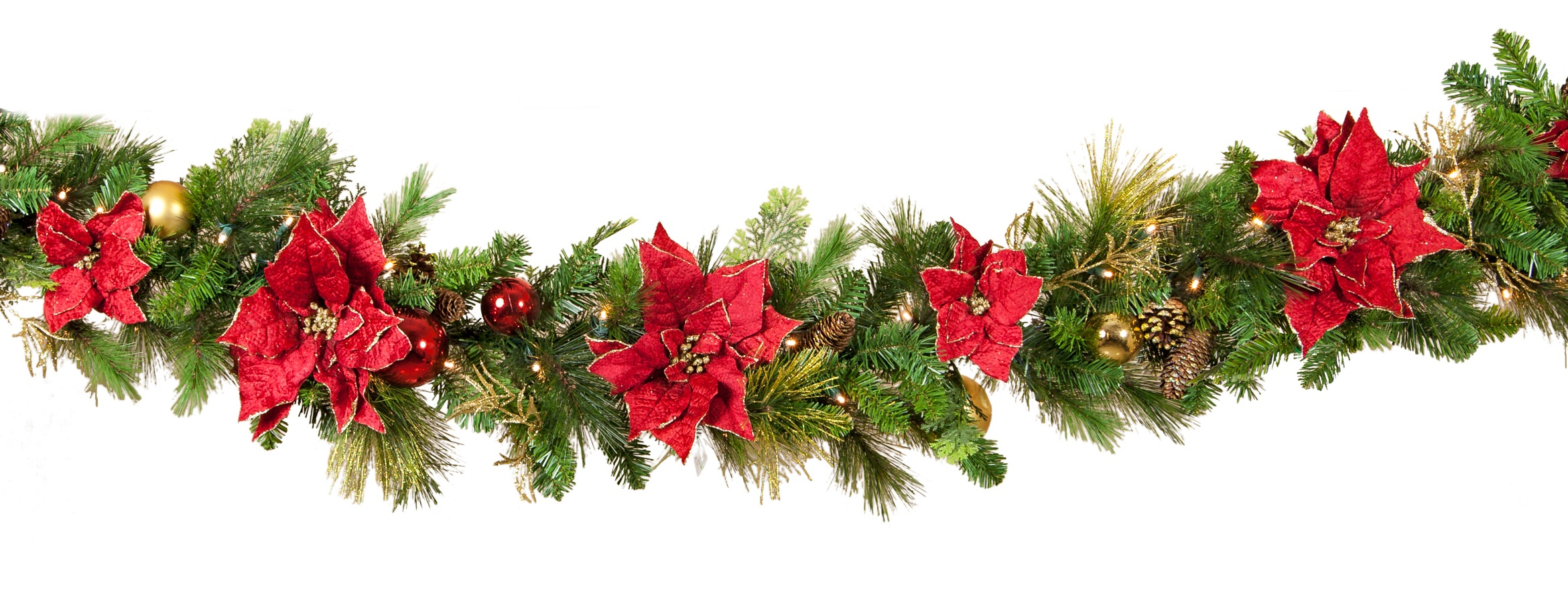 Decorative Garland Crimson Harvest Battery Operated Led