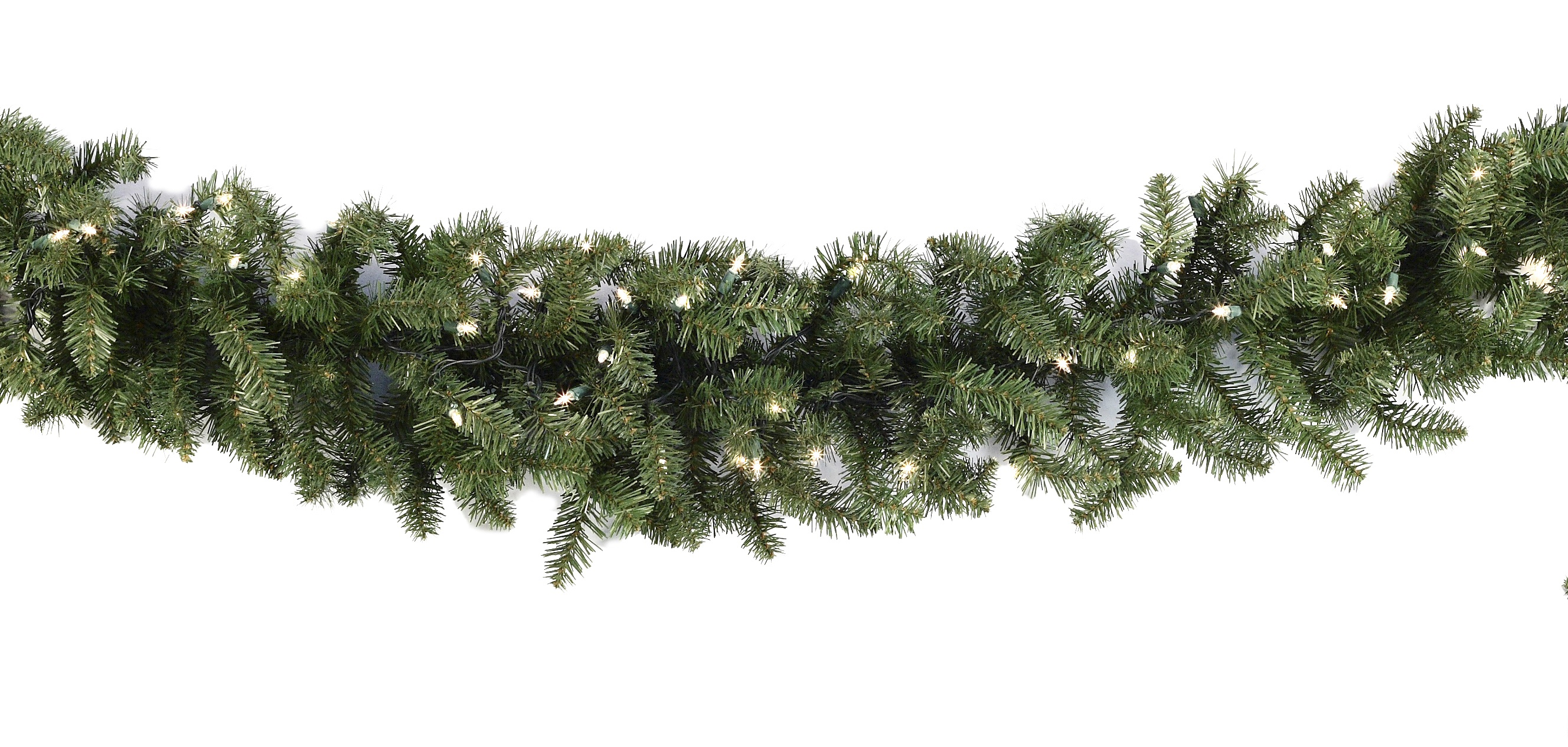 Lighted Christmas Garland - Douglas Fir Prelit Christmas Garland ...