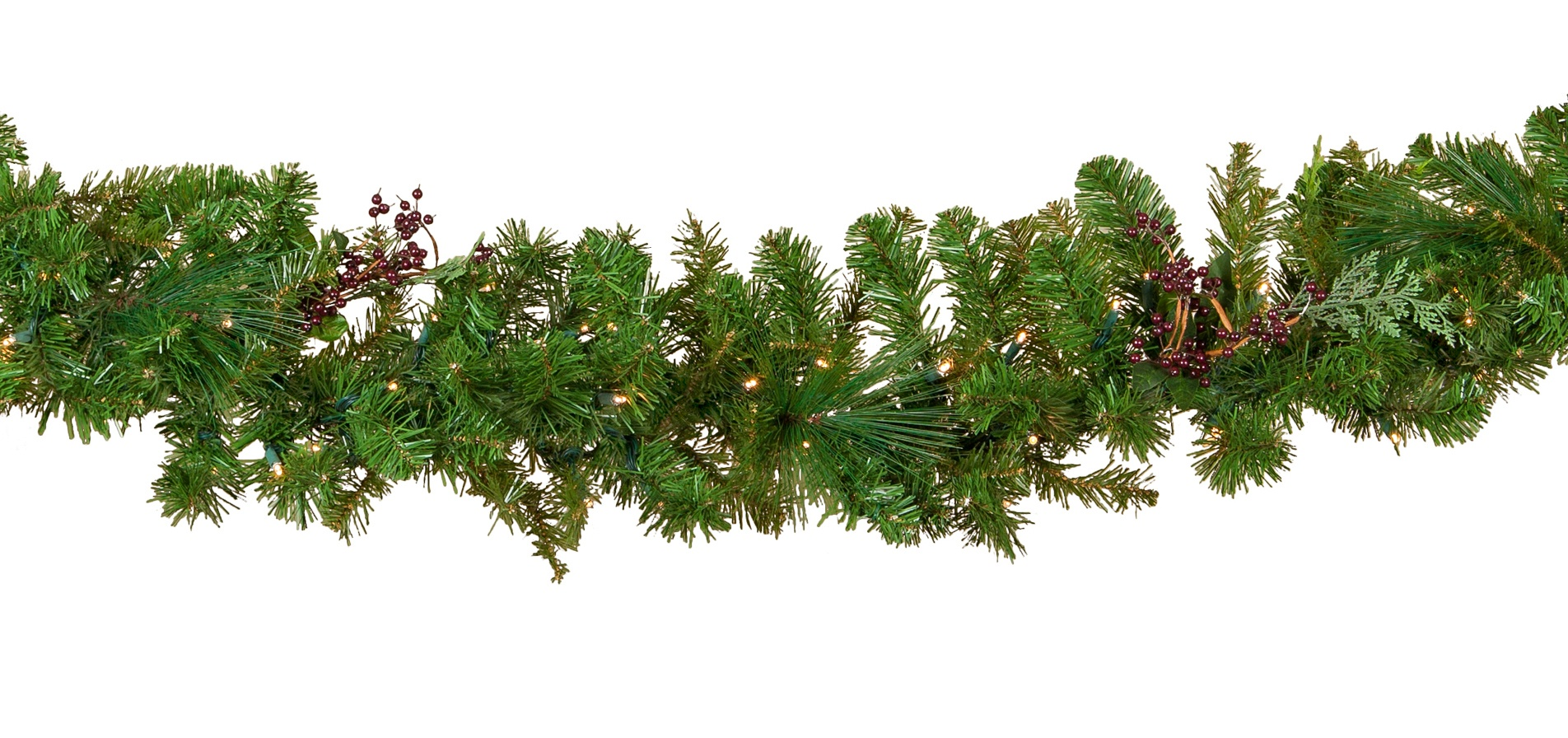 Decorative Garland Savannah Mixed Pine Battery Operated