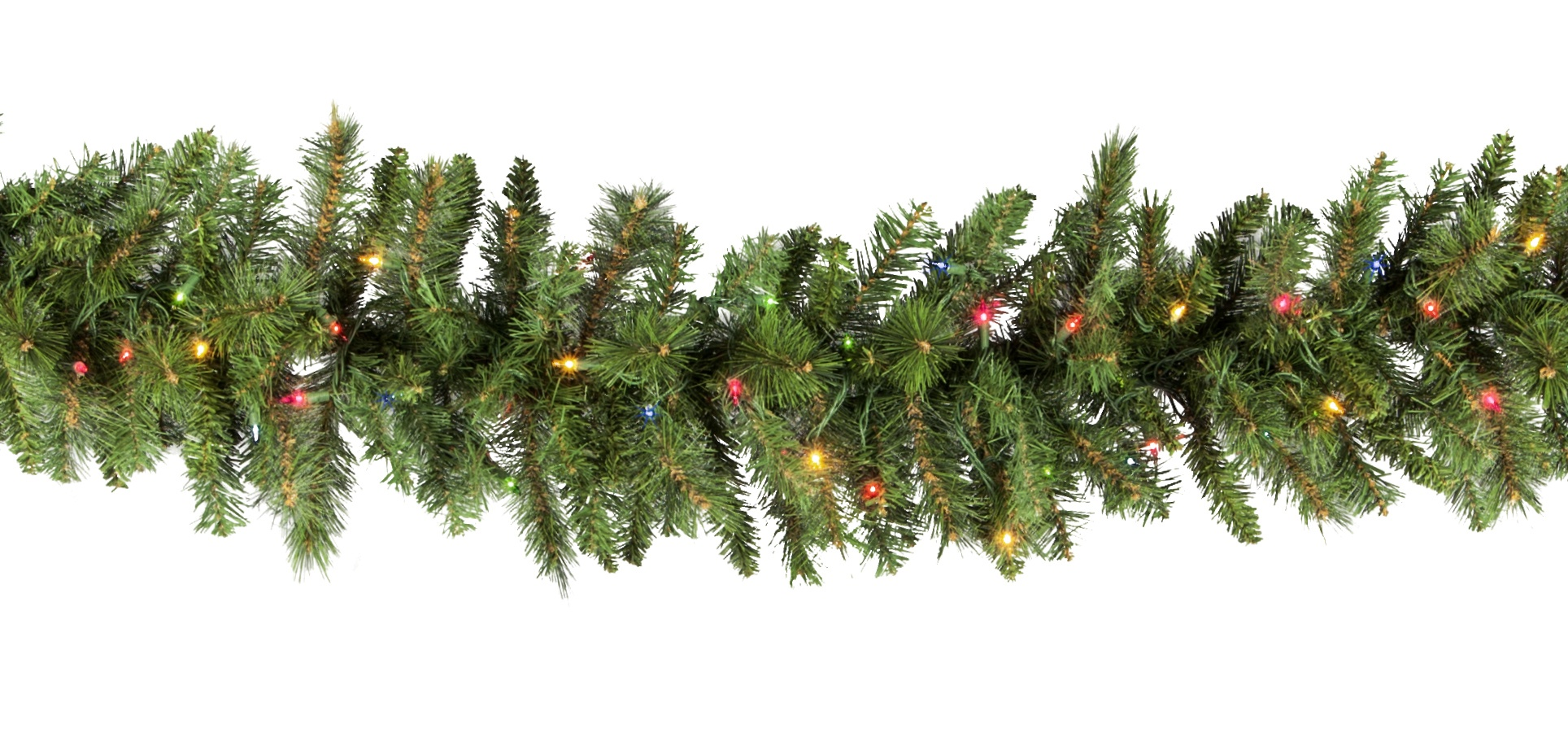 Lighted christmas garland brighton fir prelit