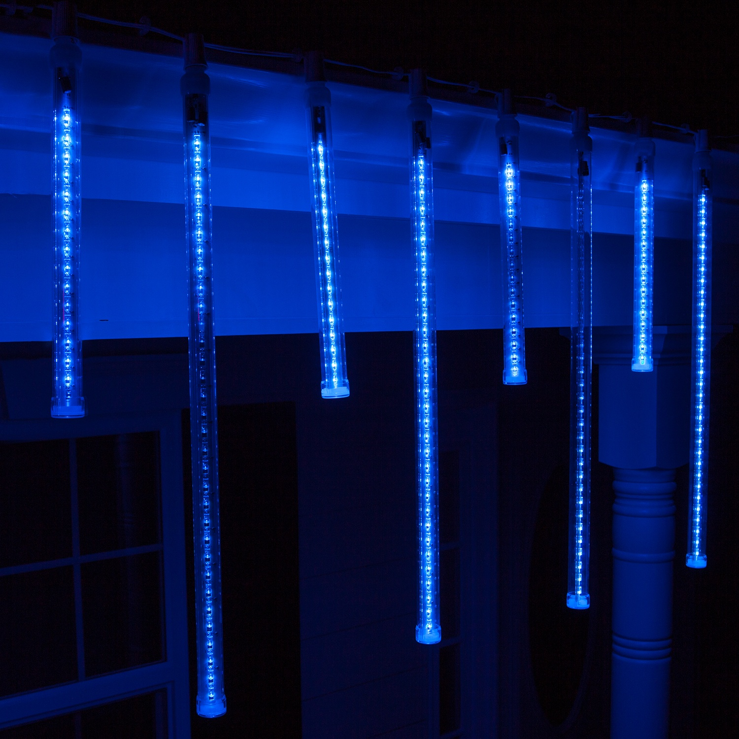t8 blue grand cascade led light tubes e17 base - Snowfall Christmas Lights