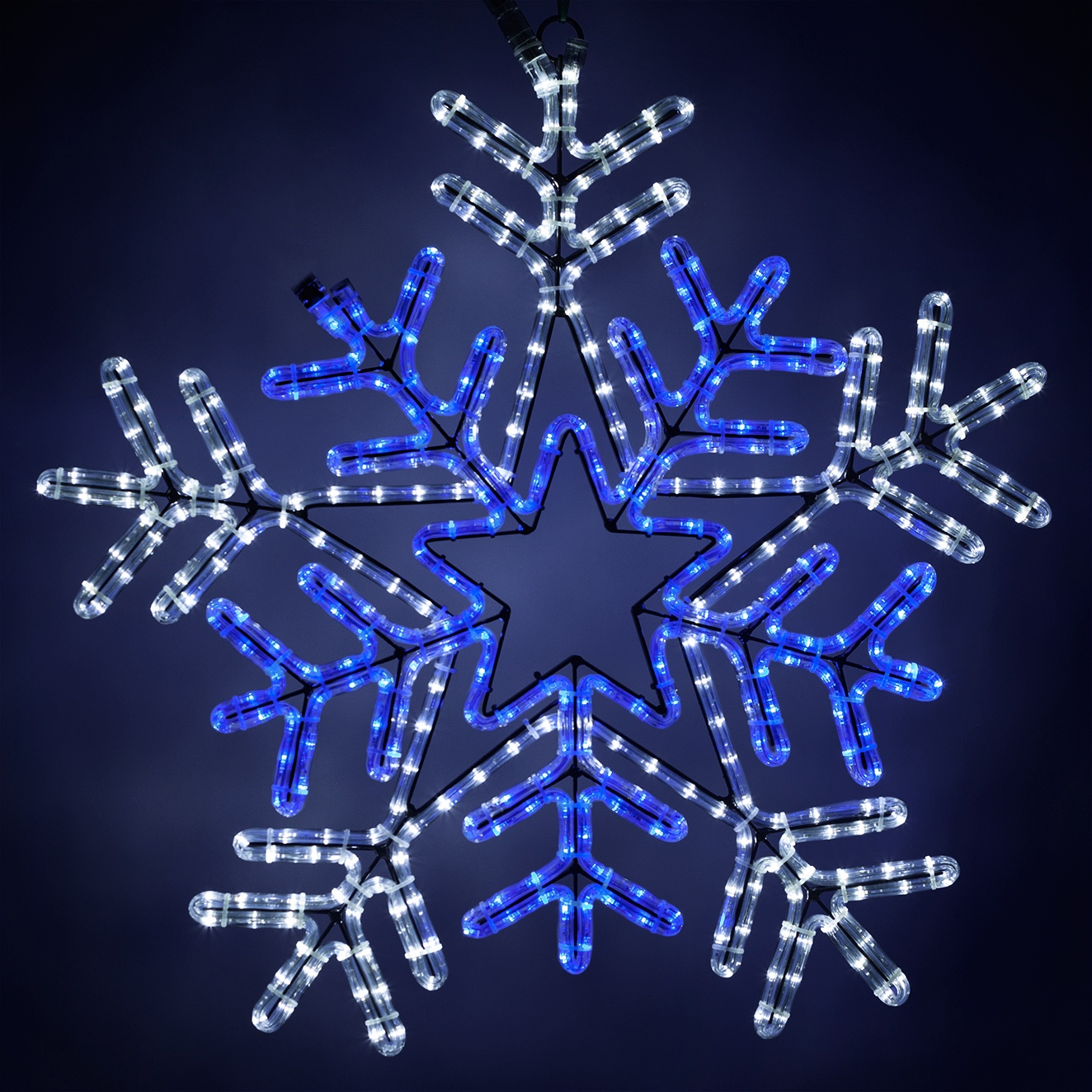 Snowflakes Amp Stars 26 Quot Led Snowflake With Blue Center