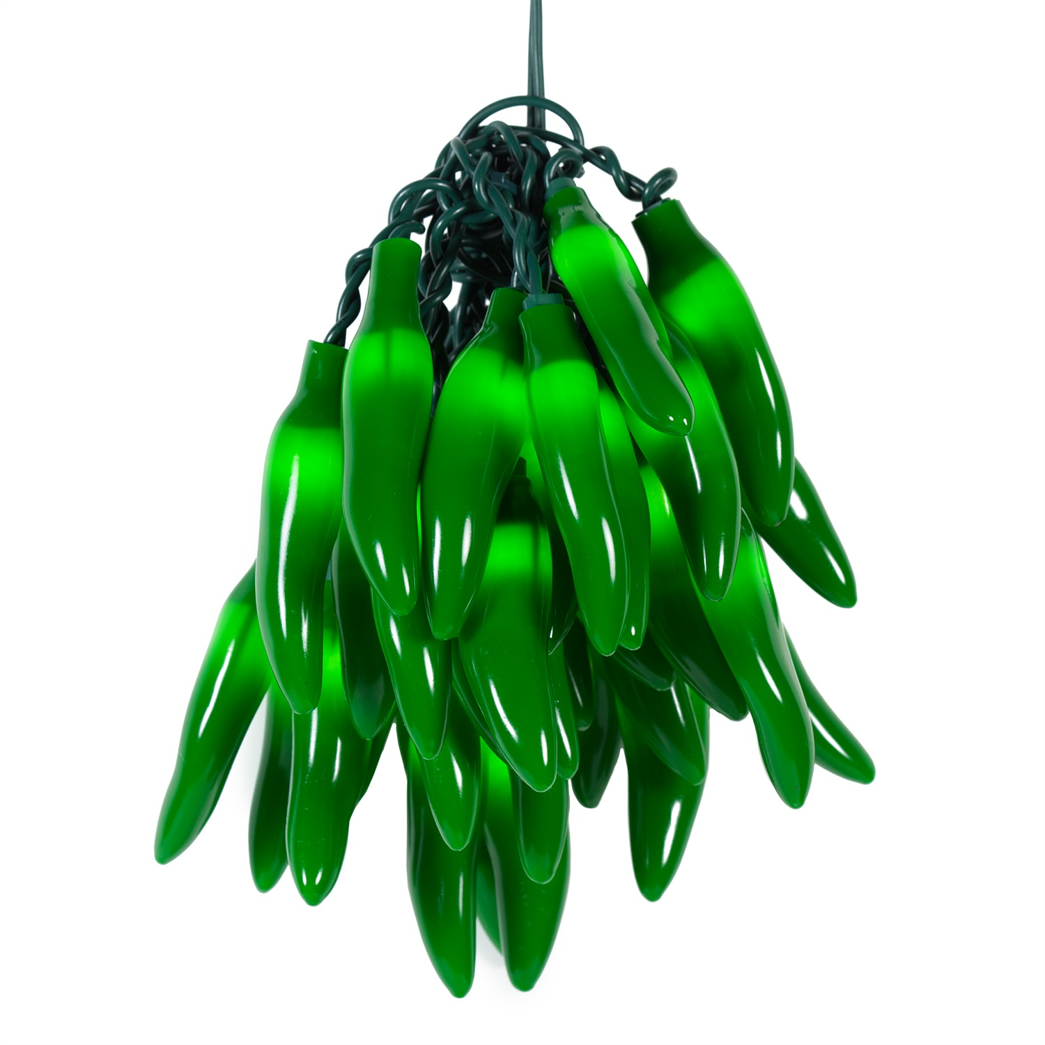 Novelty Lights Green Chili Pepper Cluster Light Set