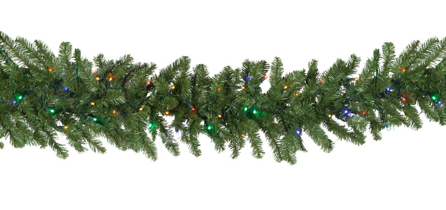 Lighted Christmas Garland Tiffany Prelit Led Christmas