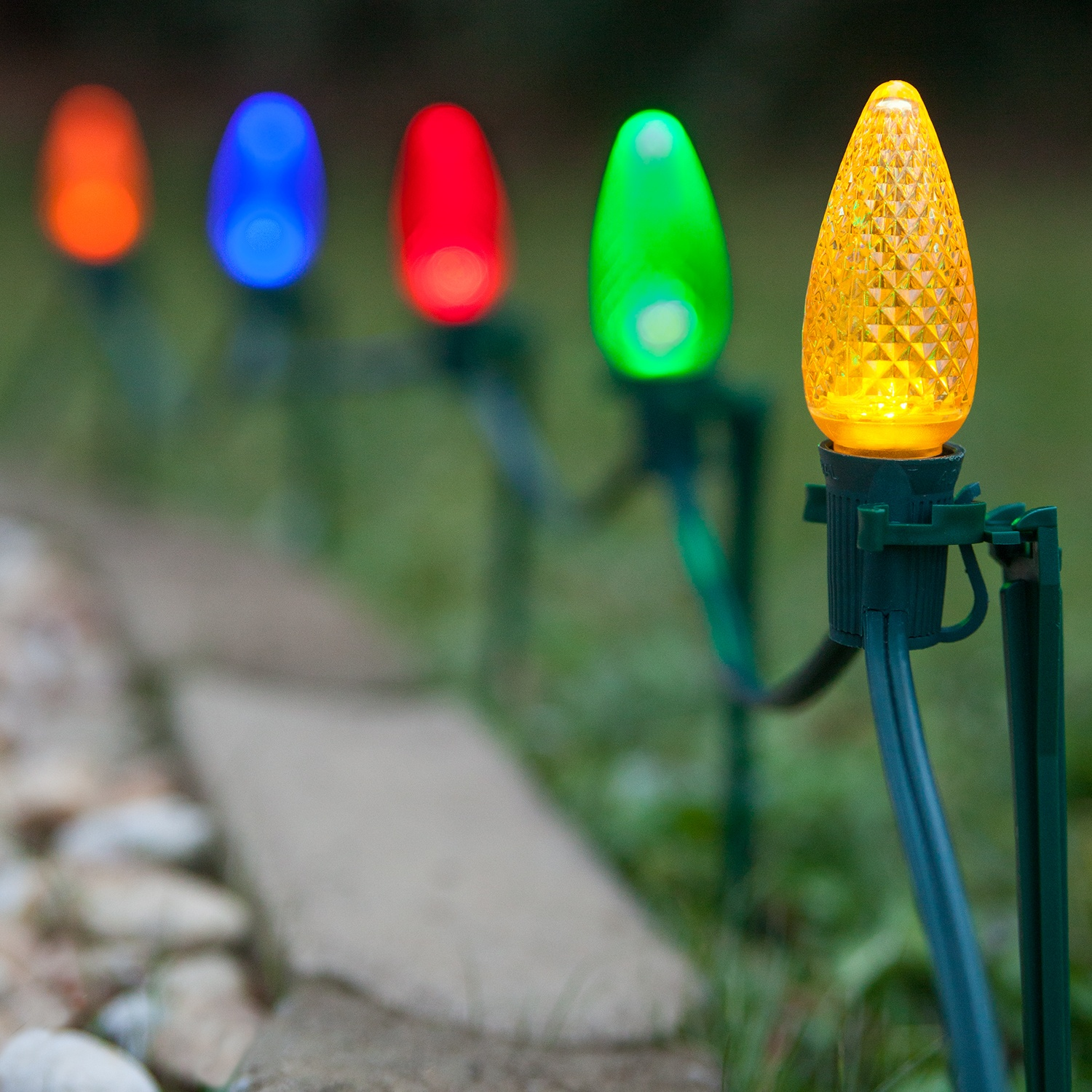 Christmas Lights - C9 Multicolor Christmas LED Pathway Lights