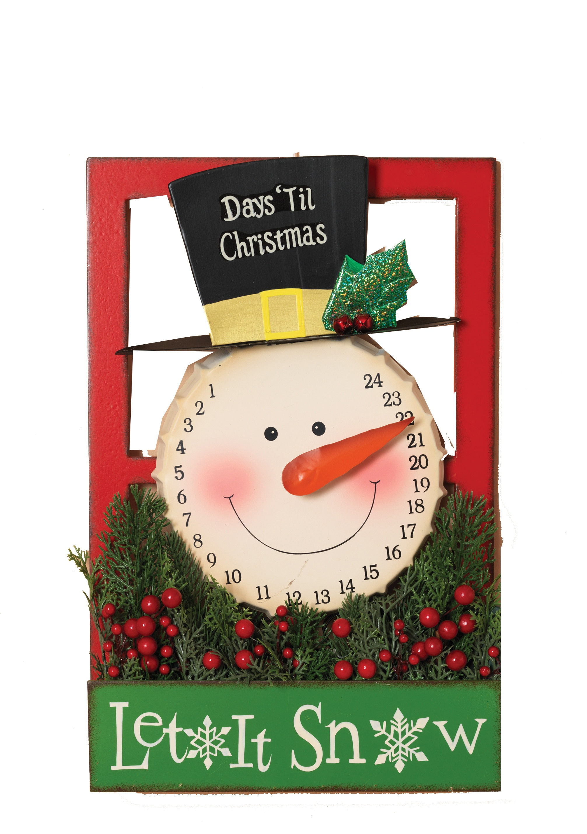 Advent And Musical Stoytelling Christmas Countdown Metal Snowman Calendar