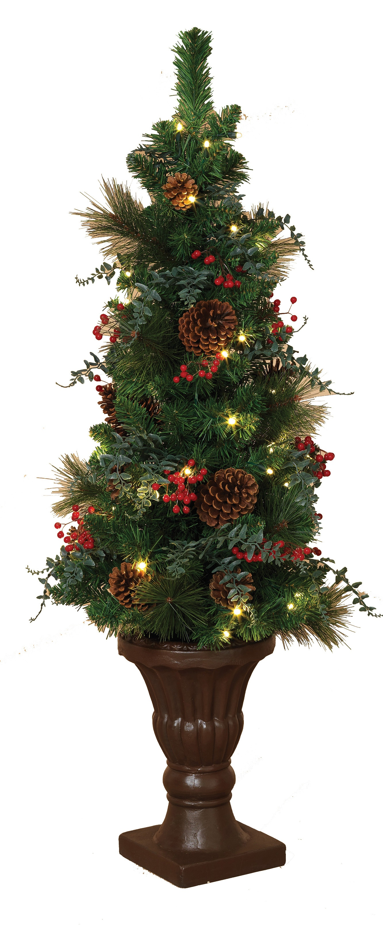 Led Shop Lights >> Artificial Christmas Trees - 4' Battery Operated Prelit Potted Tree with LED Clear Lights