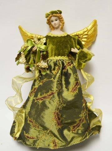 Christmas Decorations Green Angel Tree Topper