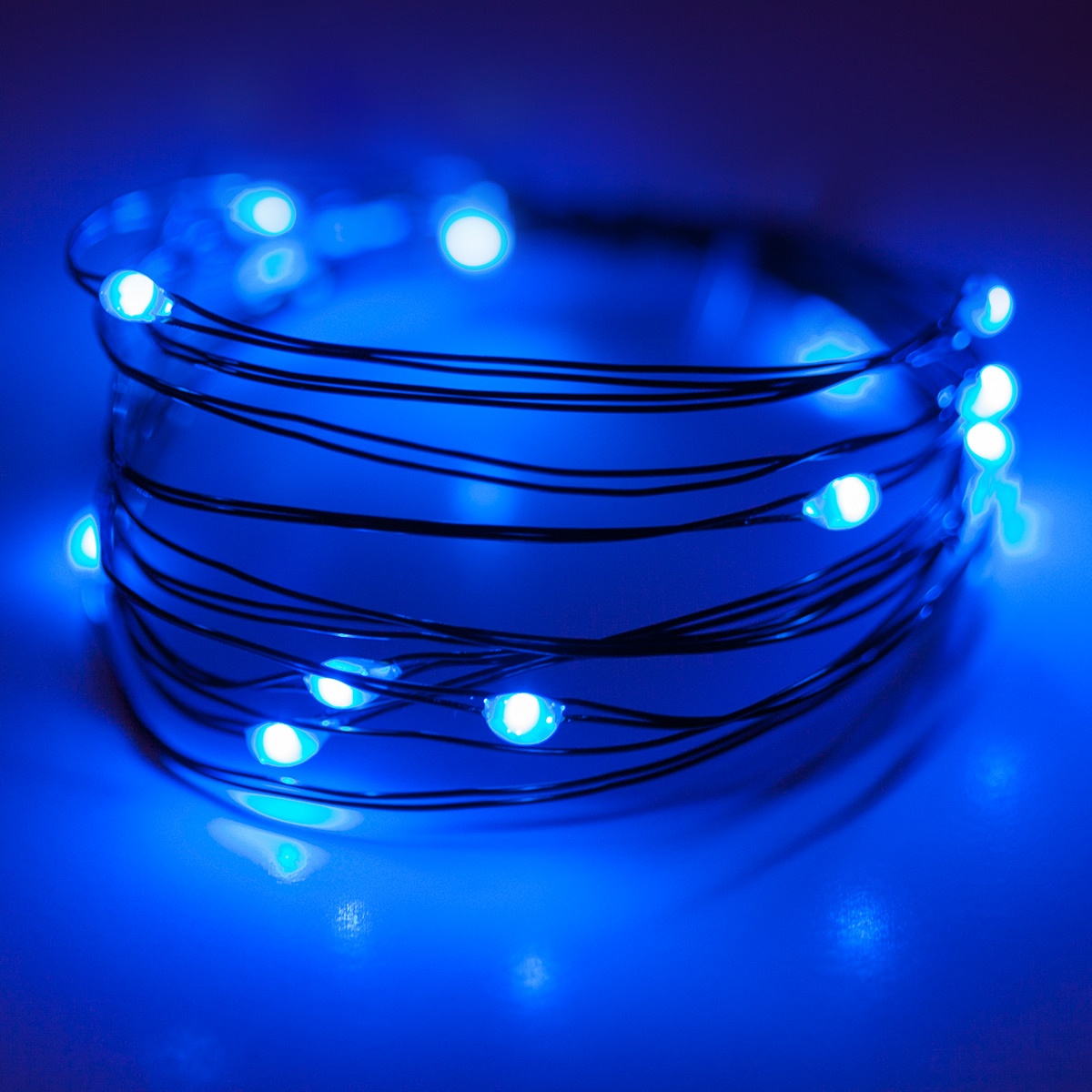 Battery Operated Lights 18 Blue Battery Operated Led