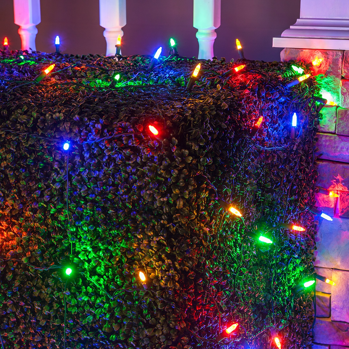 led net lights m5 4x6 multicolored led net lights green wire - Led Net Christmas Lights