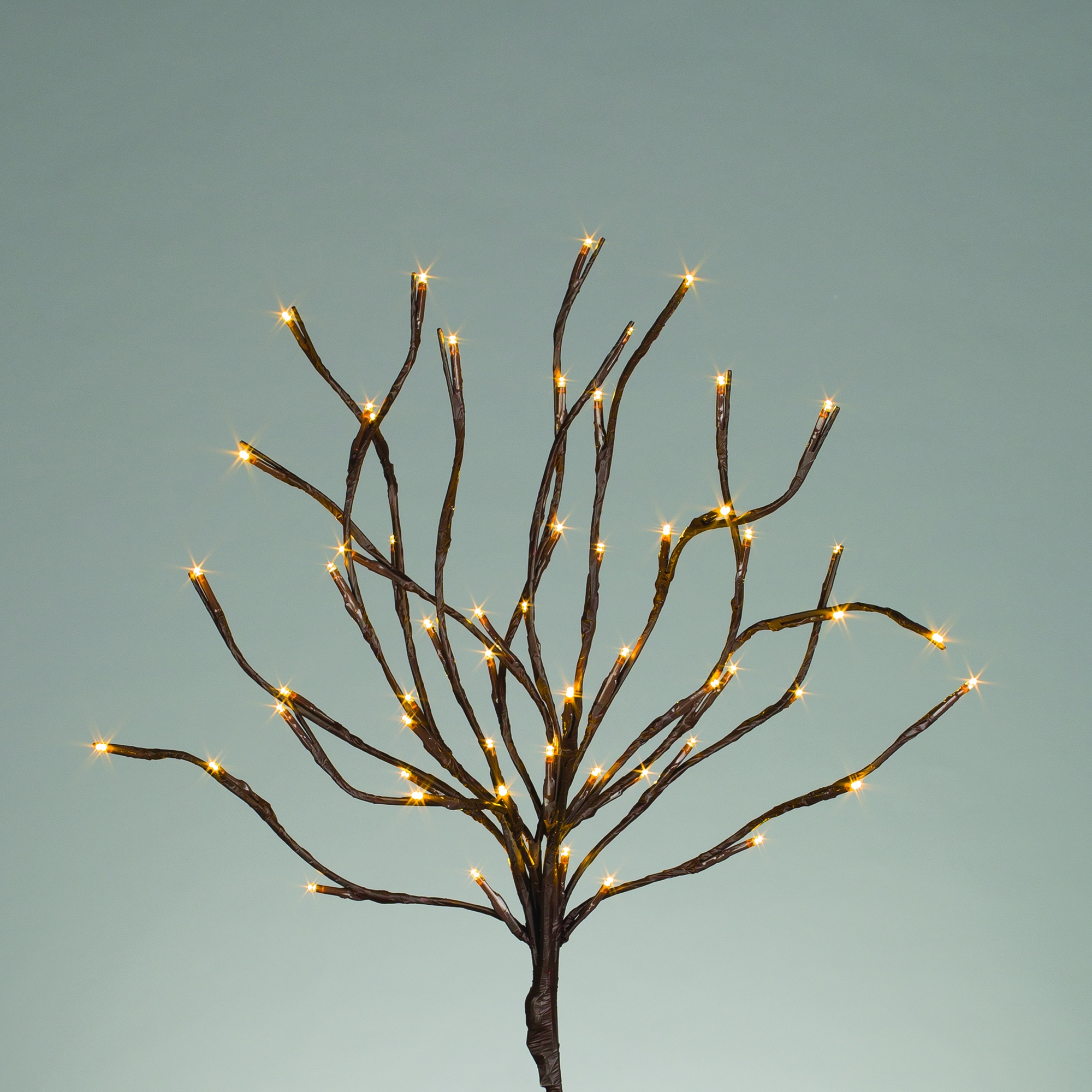 20 Quot Battery Operated Brown Branches With Warm White Led Lights