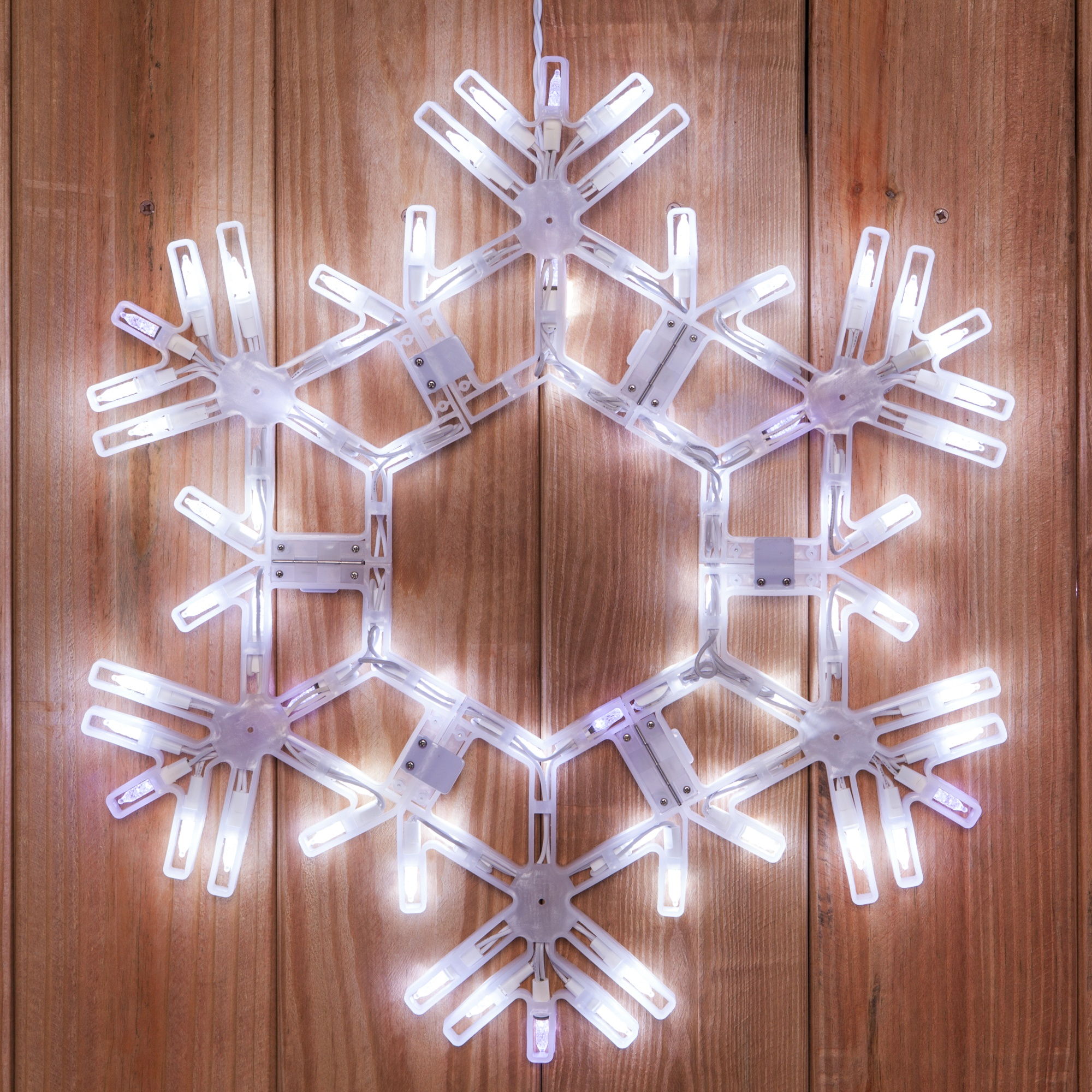 Snowflakes stars 20 led folding twinkle snowflake for Led christmas decorations