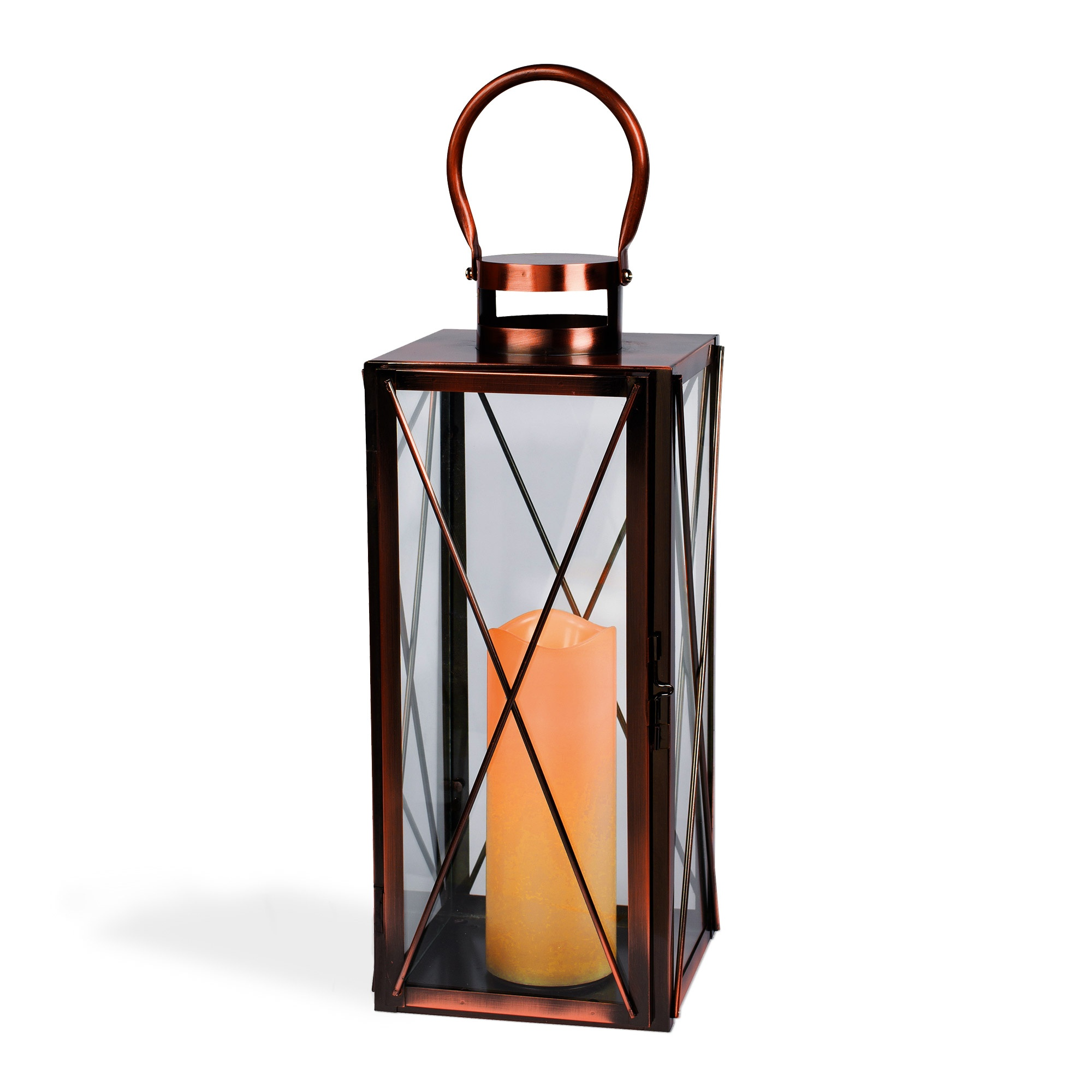 hanging candle lanterns rectangular copper candle lantern 28607