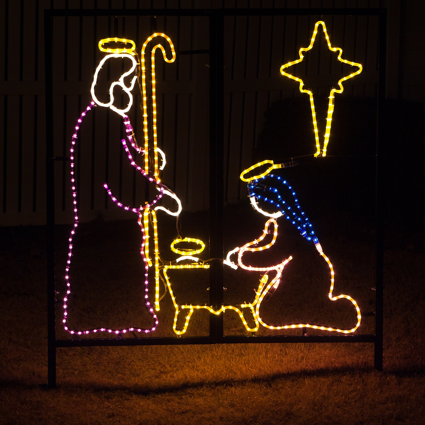 outdoor decoration nativity manger scene