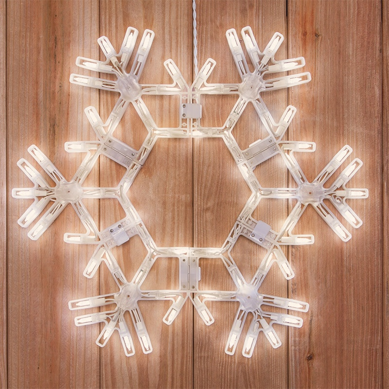 Snowflakes Amp Stars 20 Quot Led Folding Snowflake Warm White