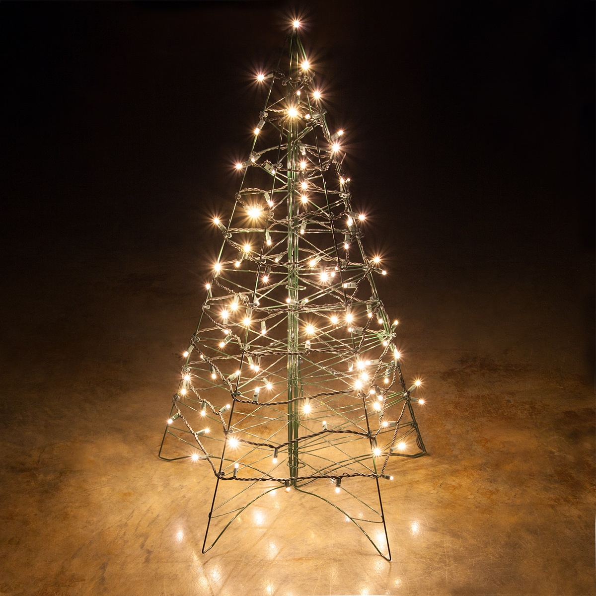 lighted warm white led outdoor christmas tree - Outdoor Christmas Trees