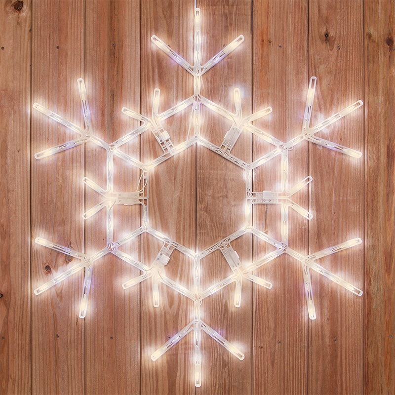 Snowflakes Amp Stars 36 Quot Led Folding Snowflake Warm White