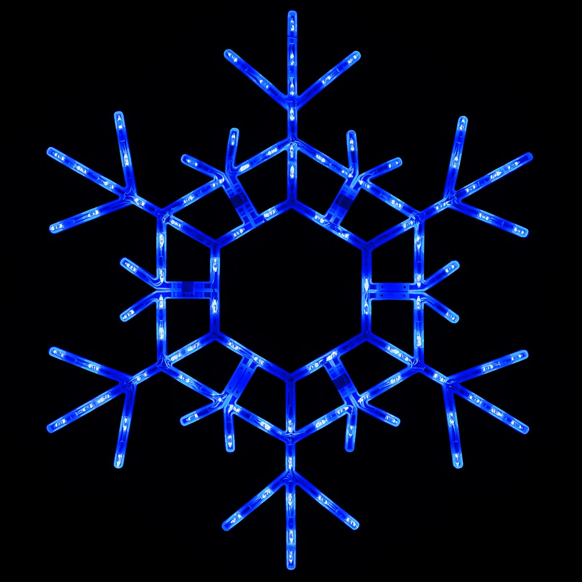 Snowflakes Amp Stars 36 Quot Led Folding Snowflake Blue Lights