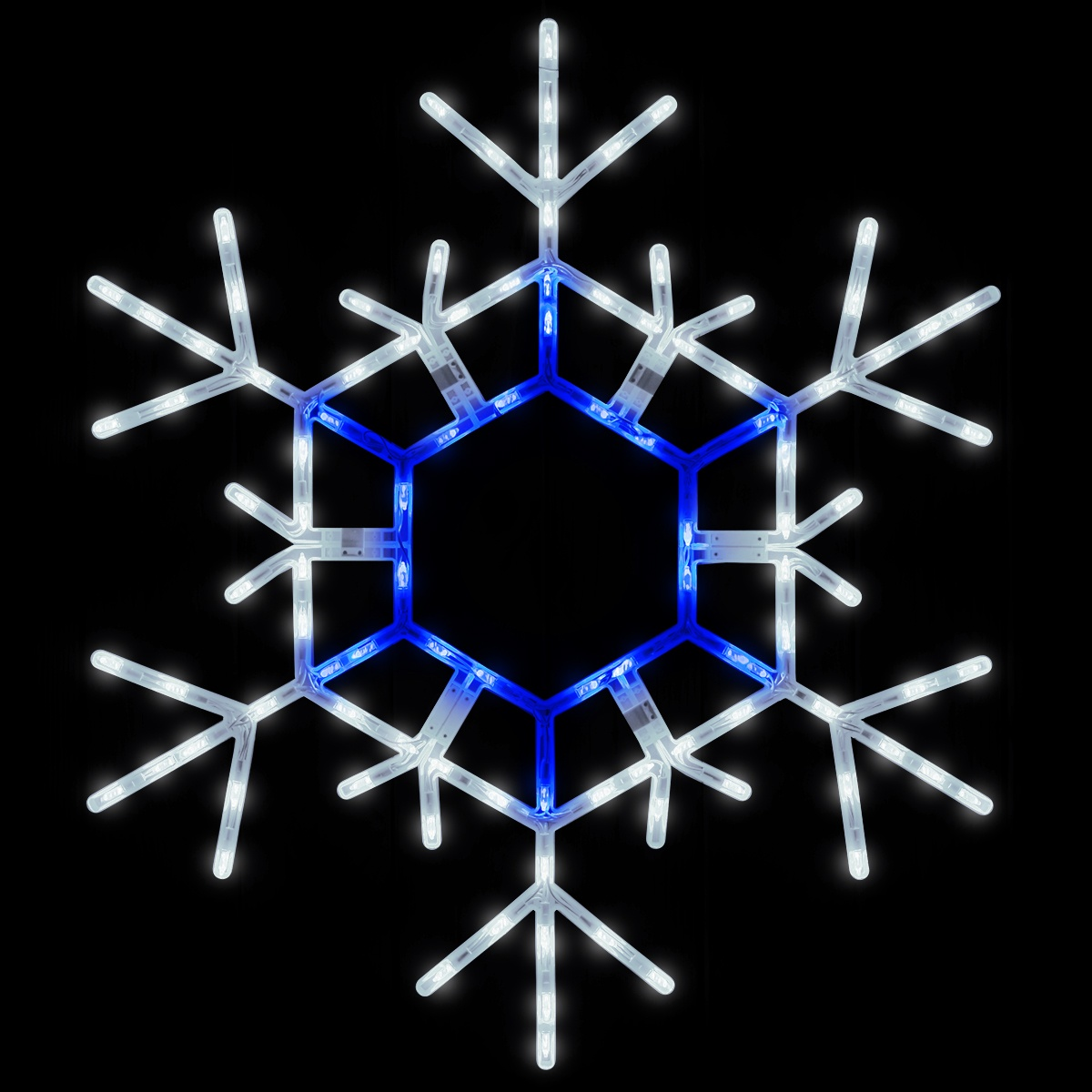 Snowflakes Amp Stars 36 Quot Led Folding Snowflake Blue And