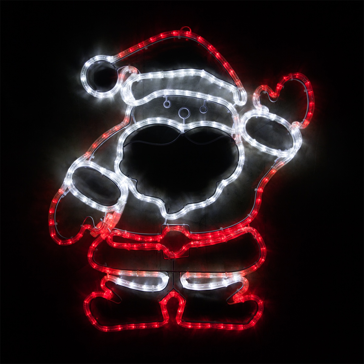 Outdoor decoration 28 led waving santa red and white for Led christmas decorations