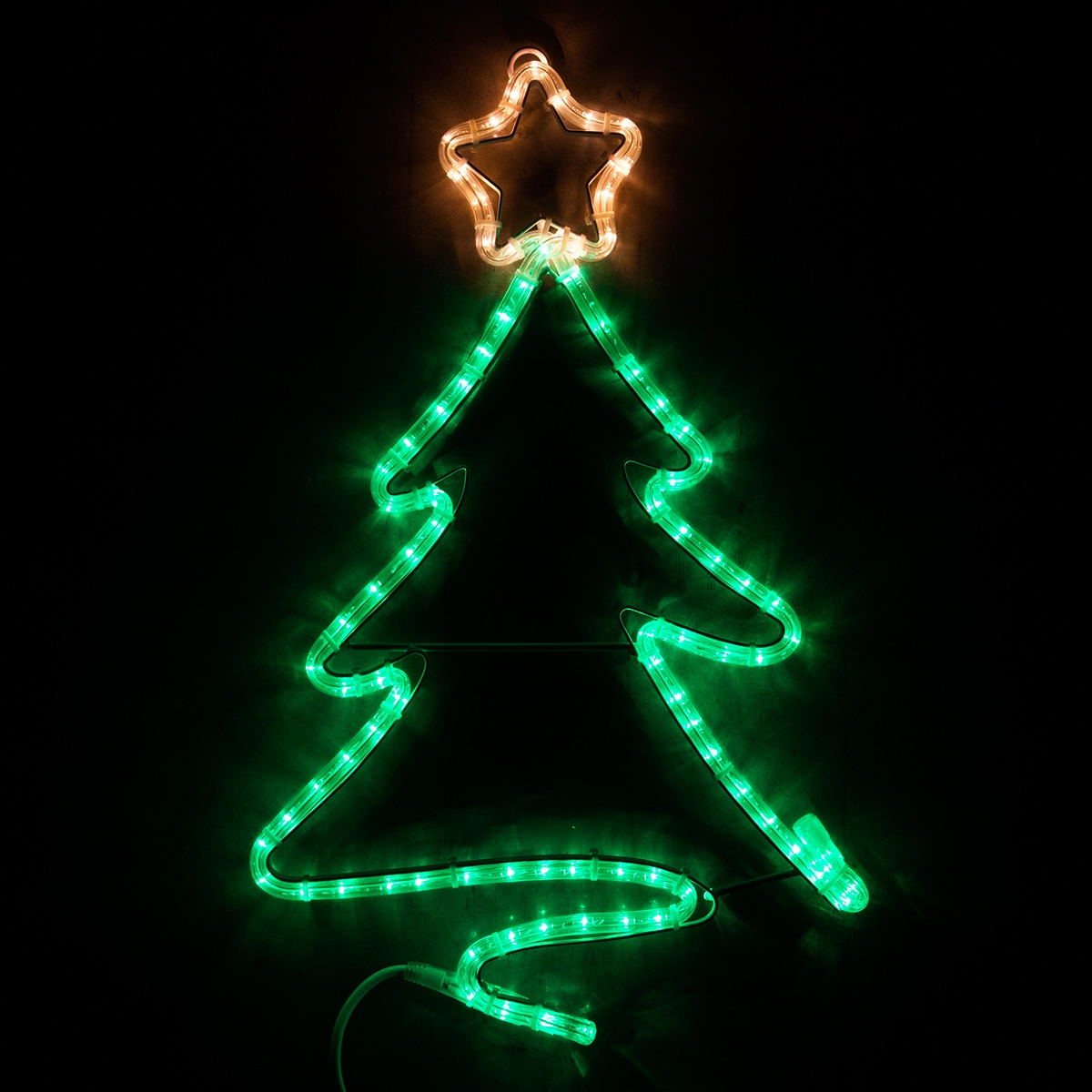 Outdoor Decoration 24 Quot Led Green Christmas Tree With Star