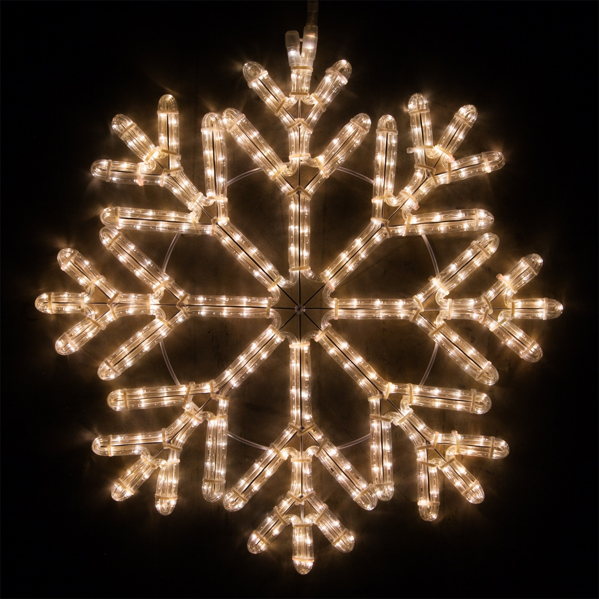 Snowflakes Amp Stars 24 Quot Led 40 Point Snowflake Warm