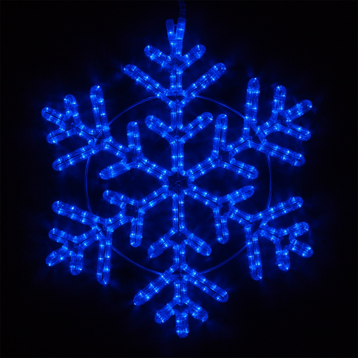 Snowflakes Amp Stars 24 Quot Led 42 Point Snowflake Blue Lights