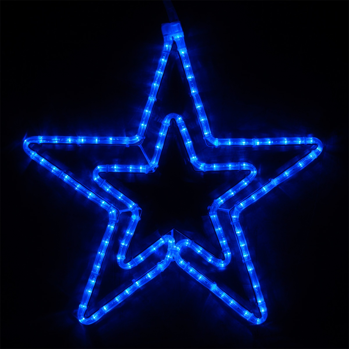 Snowflakes Amp Stars 22 Quot Led Blue Five Point Star